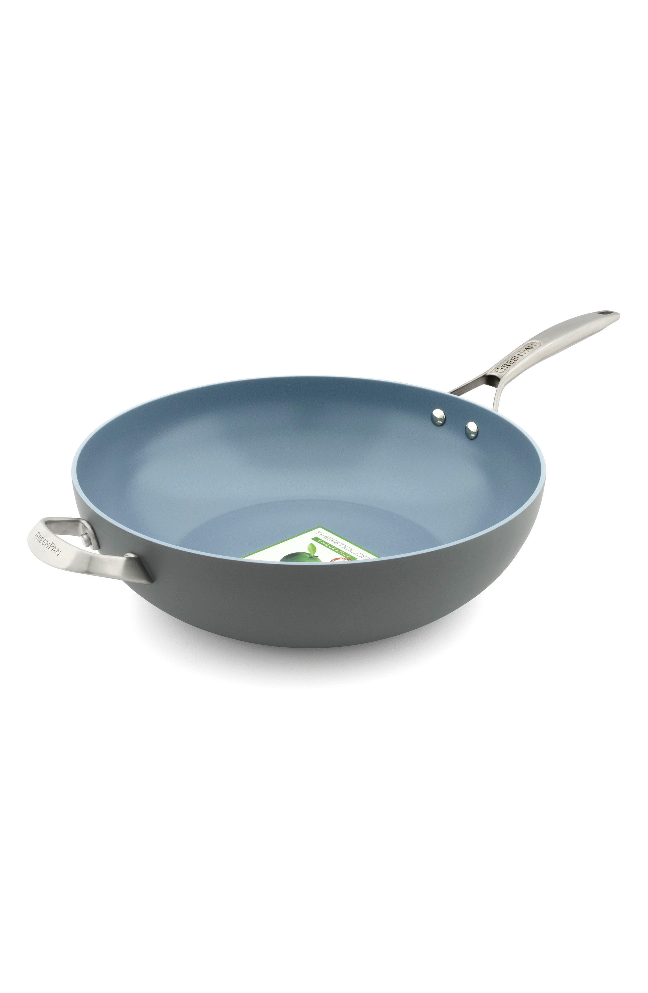Main Image - GreenPan Paris 12 1/2-Inch Anodized Aluminum Ceramic Nonstick Wok