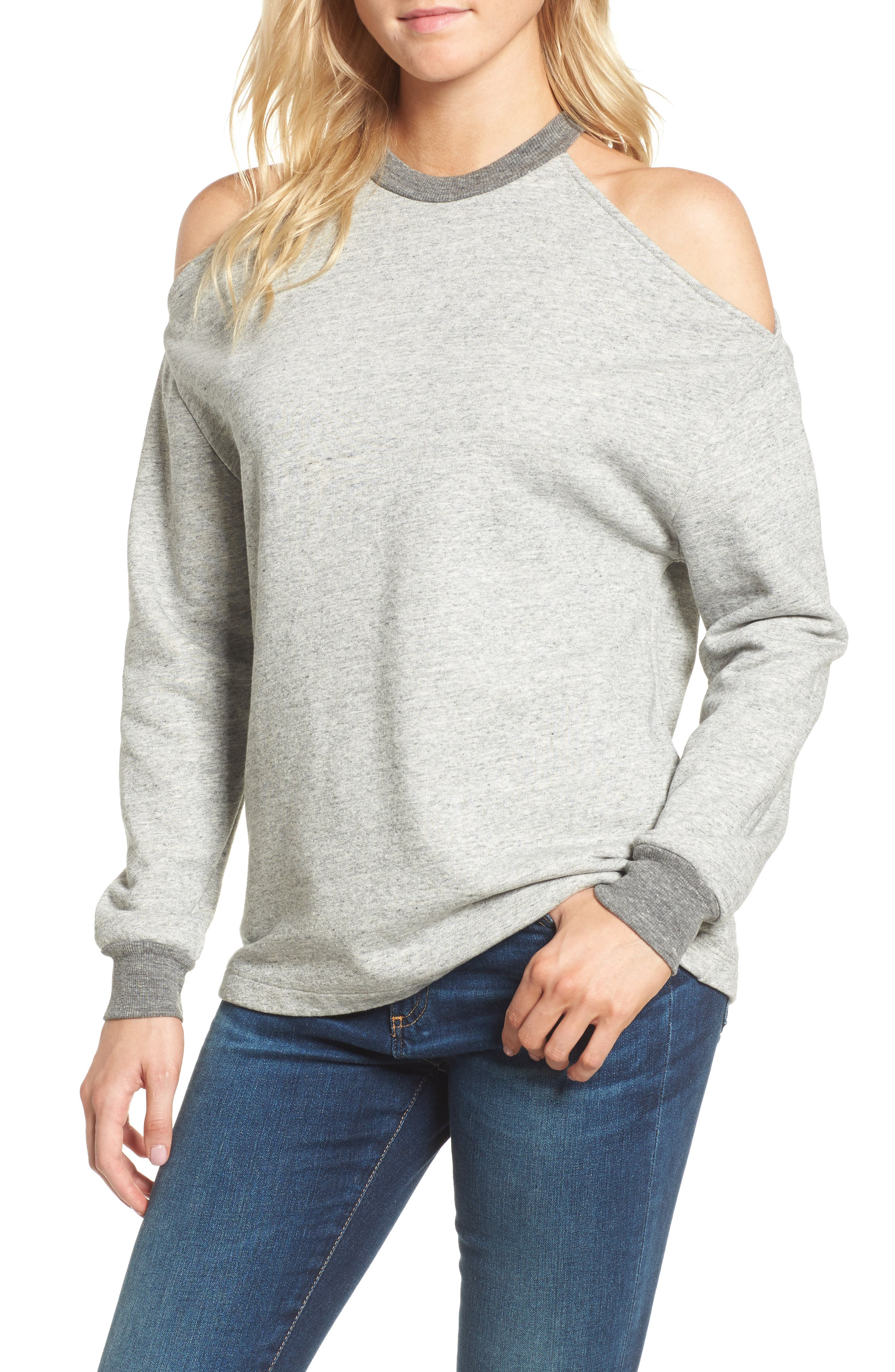 Alternate Image 1 Selected - AG Gizi Cold Shoulder Sweatshirt