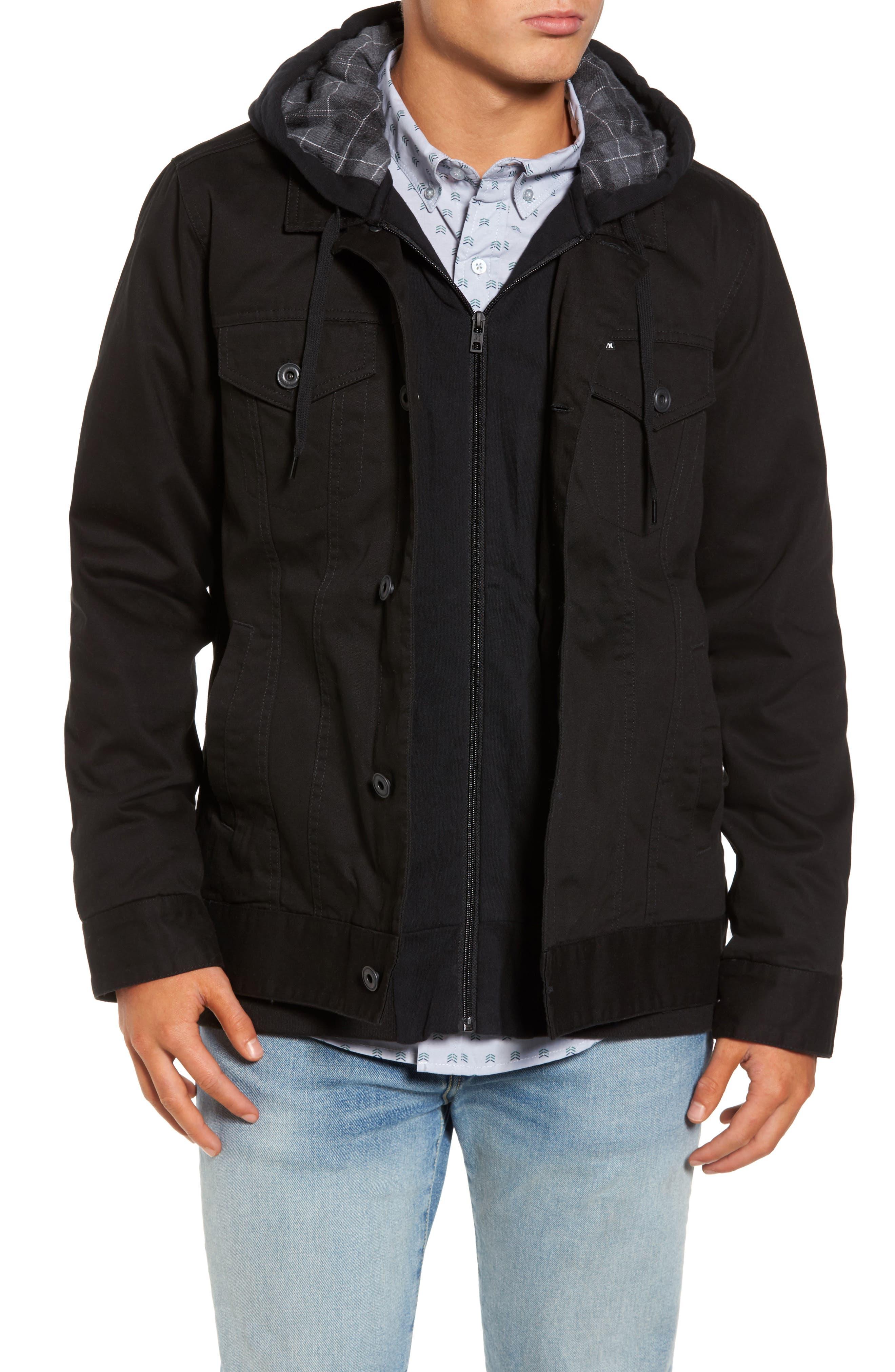 Alternate Image 1 Selected - Hurley Mac Trucker 3.0 Hooded Jacket