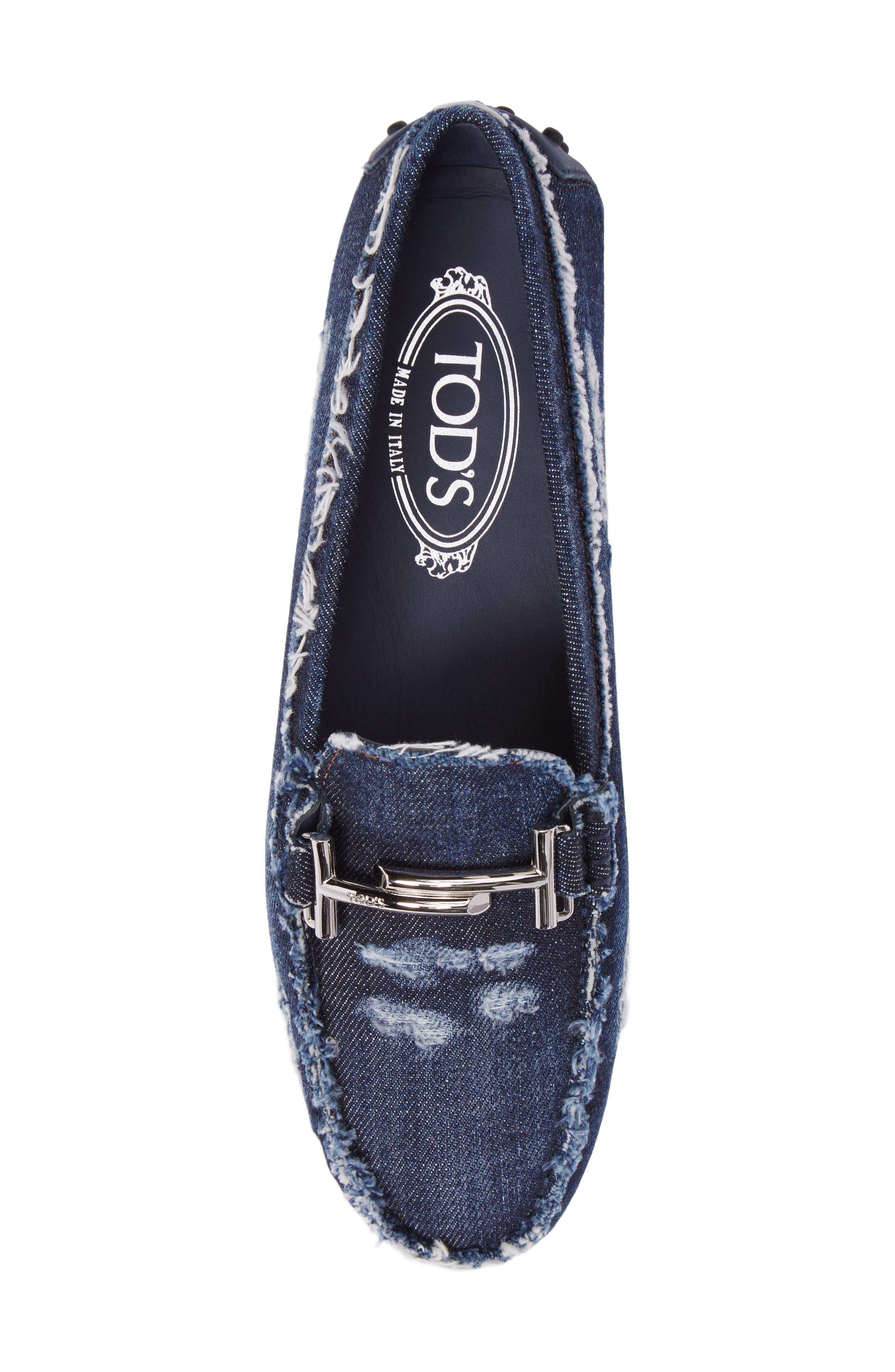 Gommino Double T Loafer,                             Alternate thumbnail 5, color,                             Denim Blue