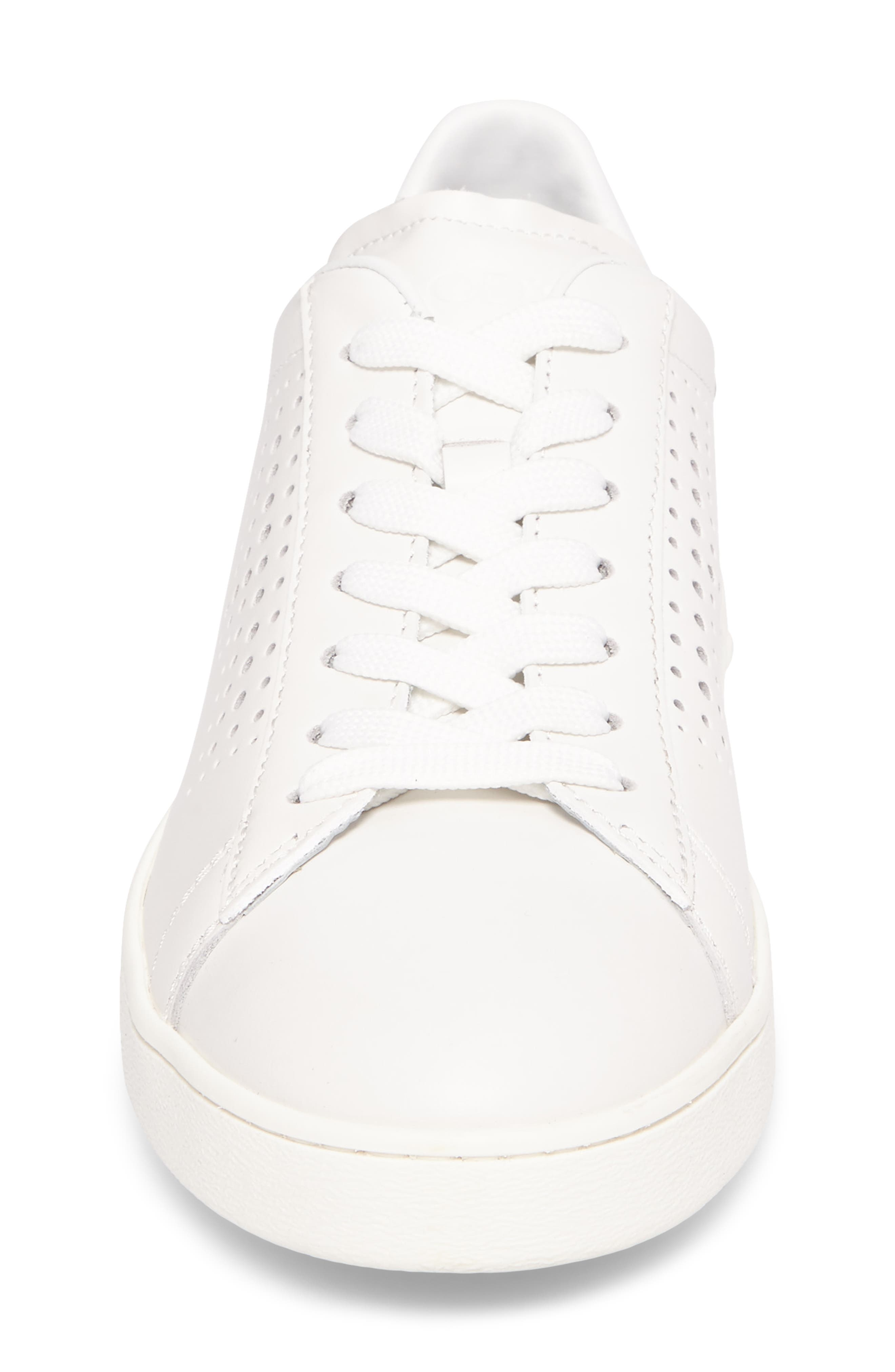 Perforated T Sneaker,                             Alternate thumbnail 4, color,                             White