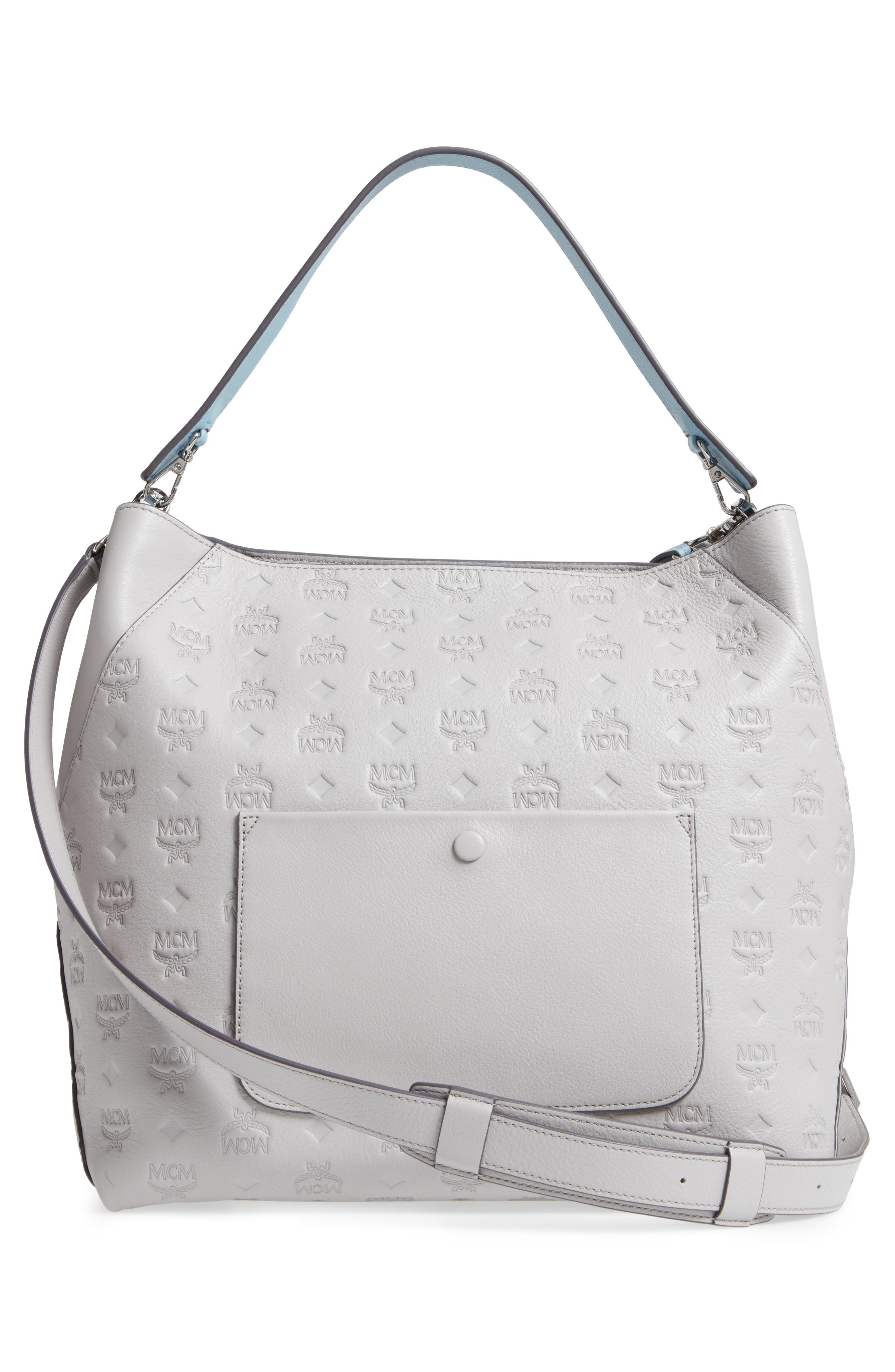 Alternate Image 3  - MCM Klara Monogrammed Leather Hobo Bag