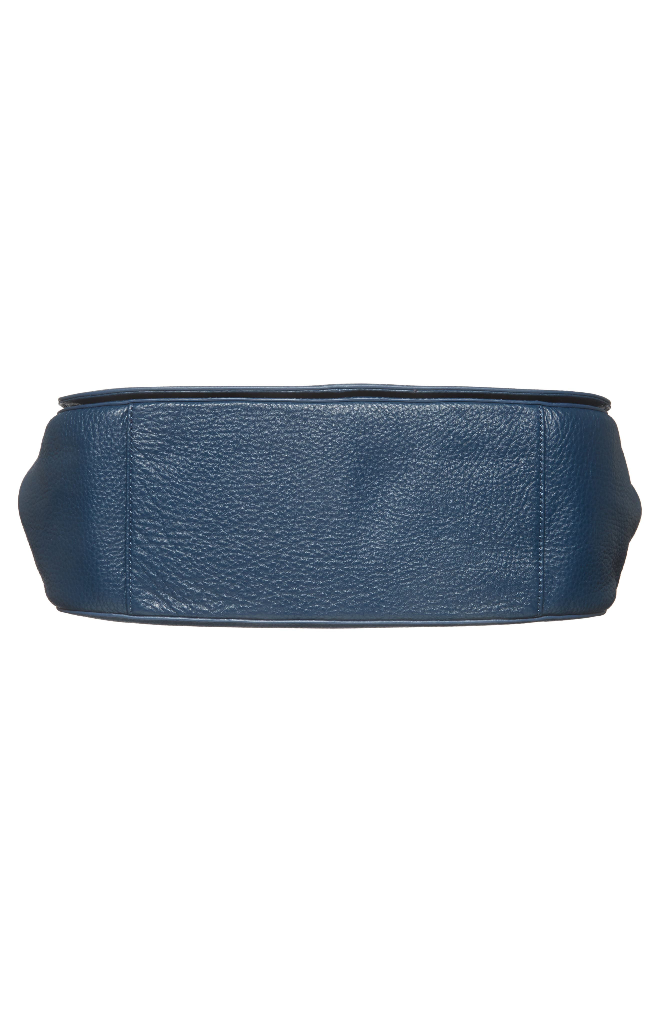 Kate Calfskin Leather Top Handle Satchel,                             Alternate thumbnail 6, color,                             Navy