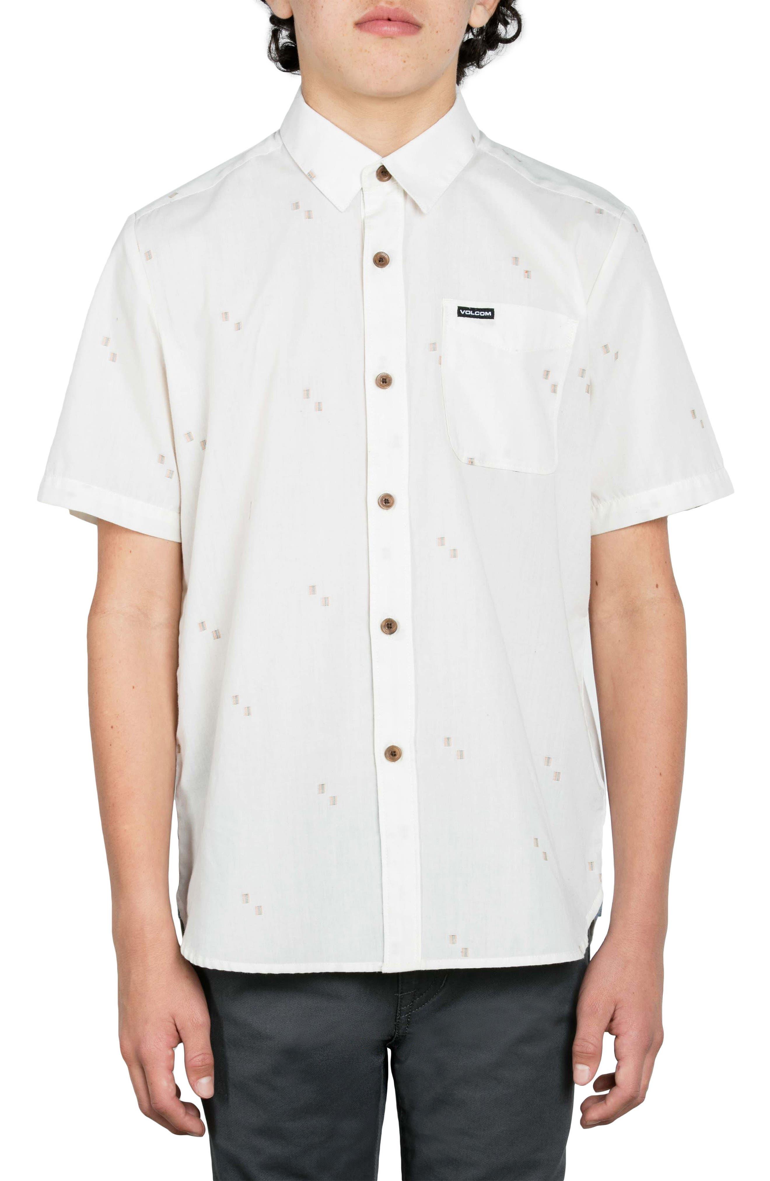 Main Image - Volcom Floyd Geo Pattern Woven Shirt (Big Boys)
