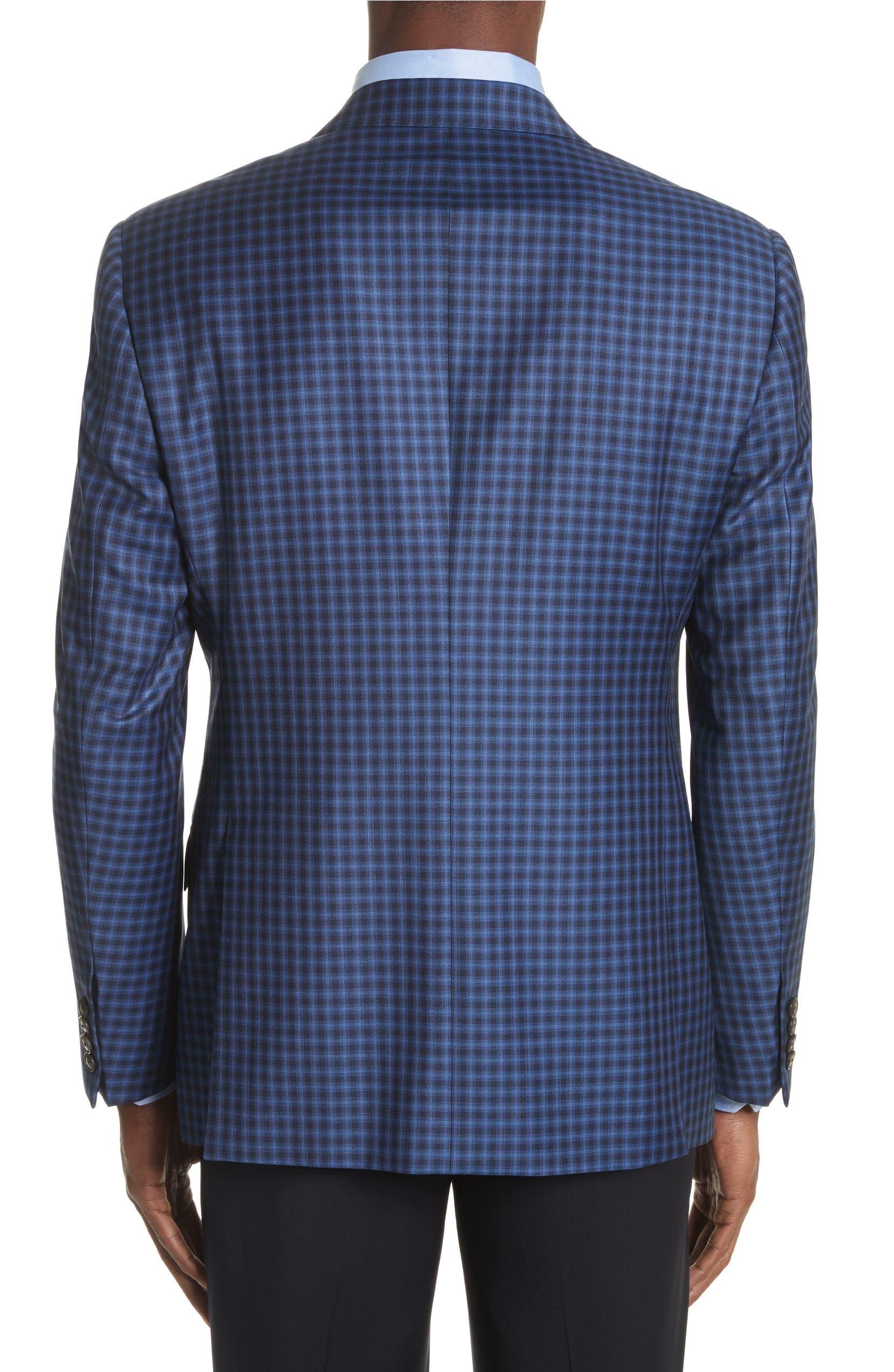 Emporio Armani G Line Trim Fit Check Wool Sport Coat | Nordstrom