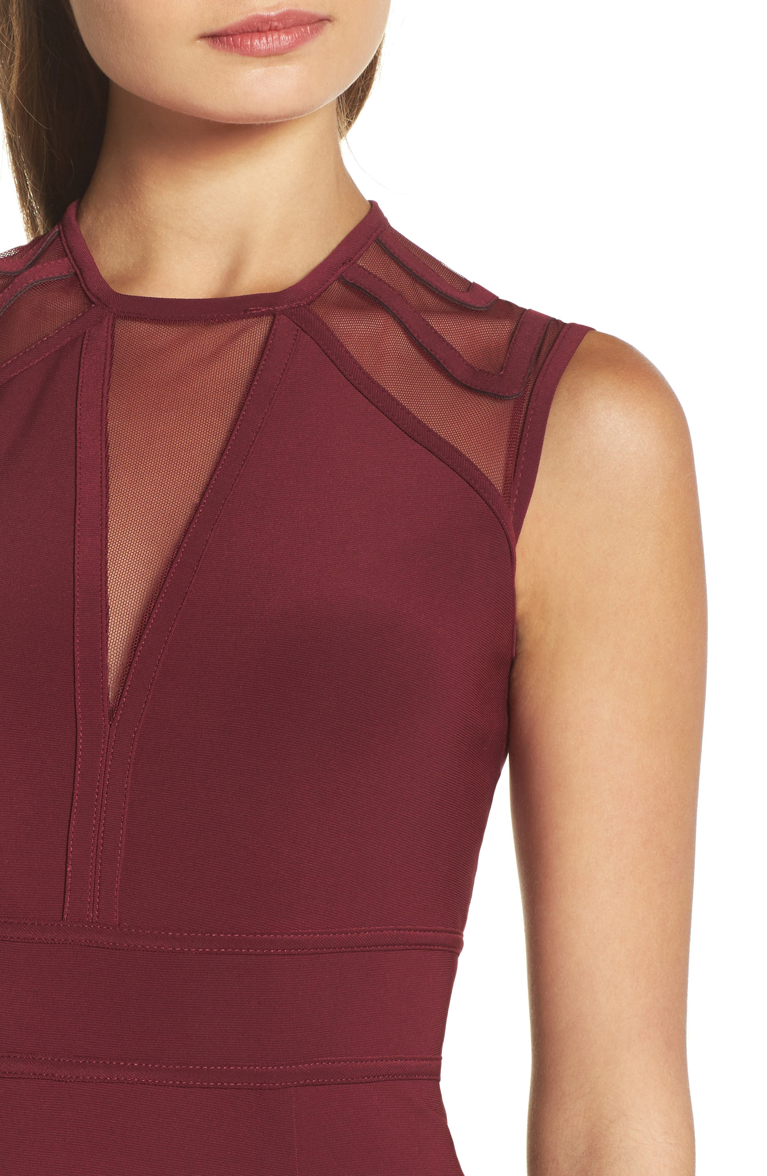 Alternate Image 4  - Morgan & Co. Mesh Inset Open Back Gown
