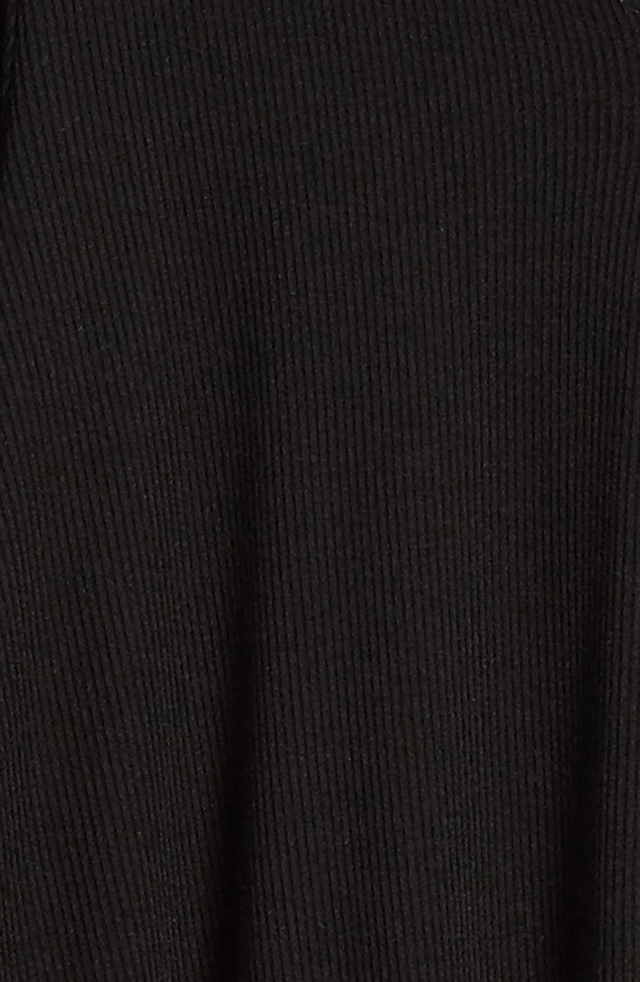 Mock Neck Knit Dress,                             Alternate thumbnail 3, color,                             Black