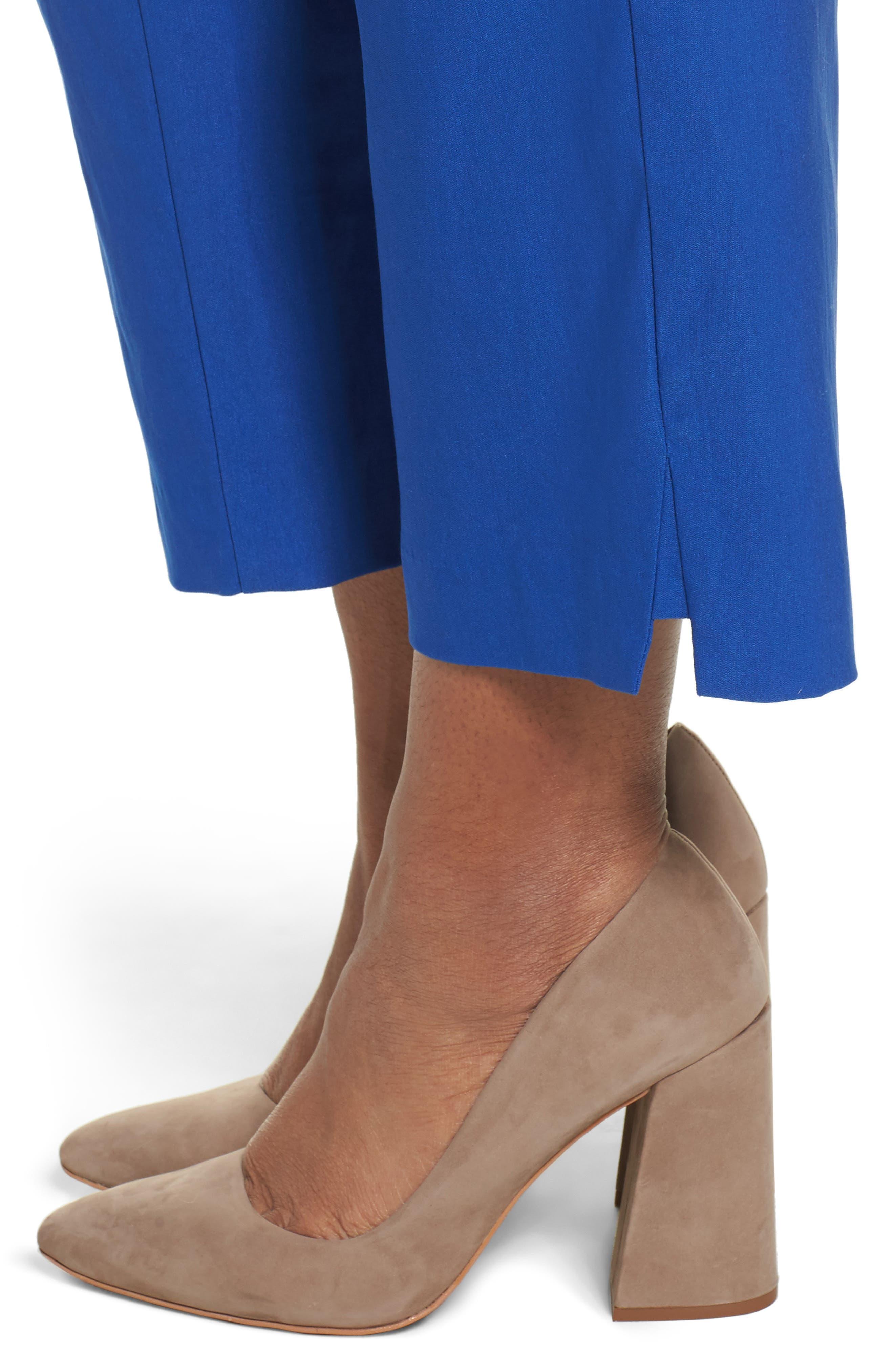 Stretch Ankle Pants,                             Alternate thumbnail 4, color,                             Blue Mazarine
