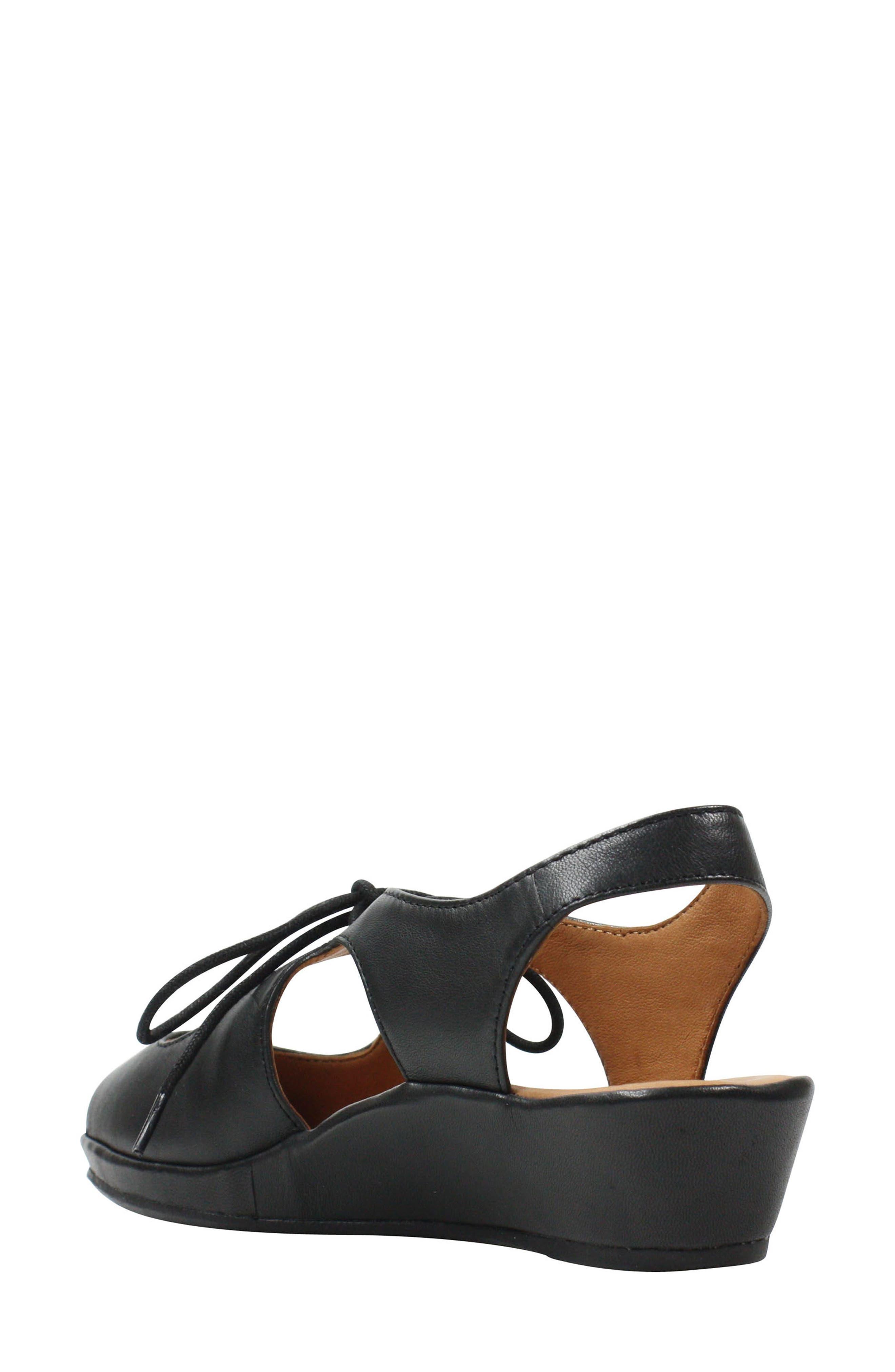 Brettany Sandal,                             Alternate thumbnail 2, color,                             Black Leather