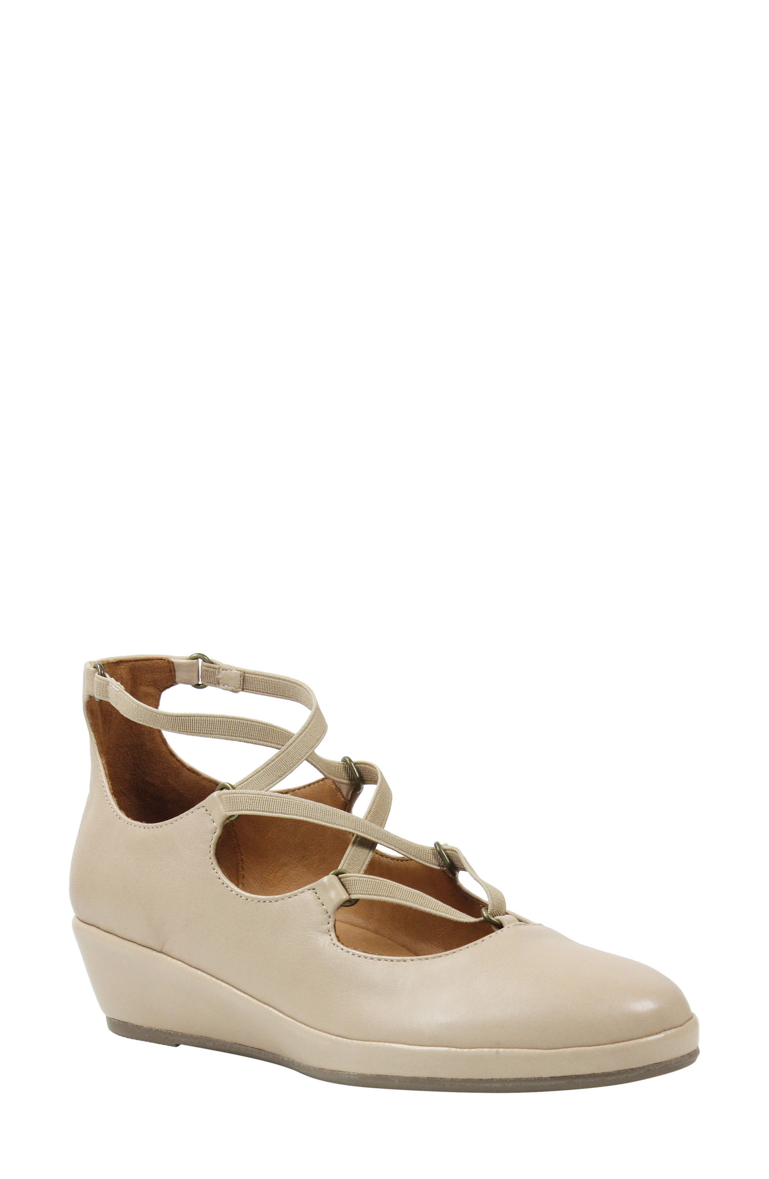 Benham Wedge,                             Main thumbnail 1, color,                             Nude Leather