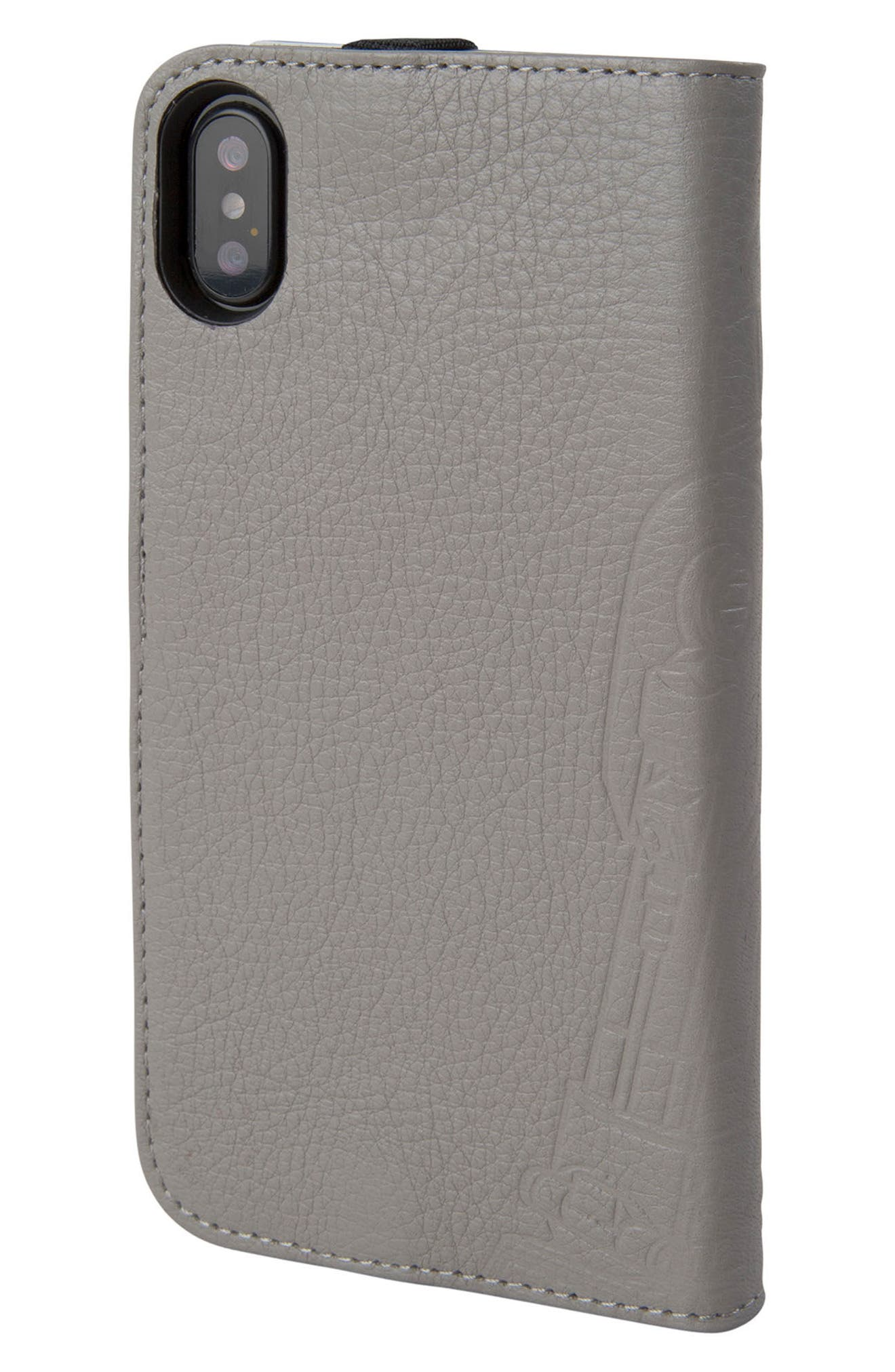 R2-D2 iPhone X Wallet Case,                             Alternate thumbnail 3, color,                             Grey