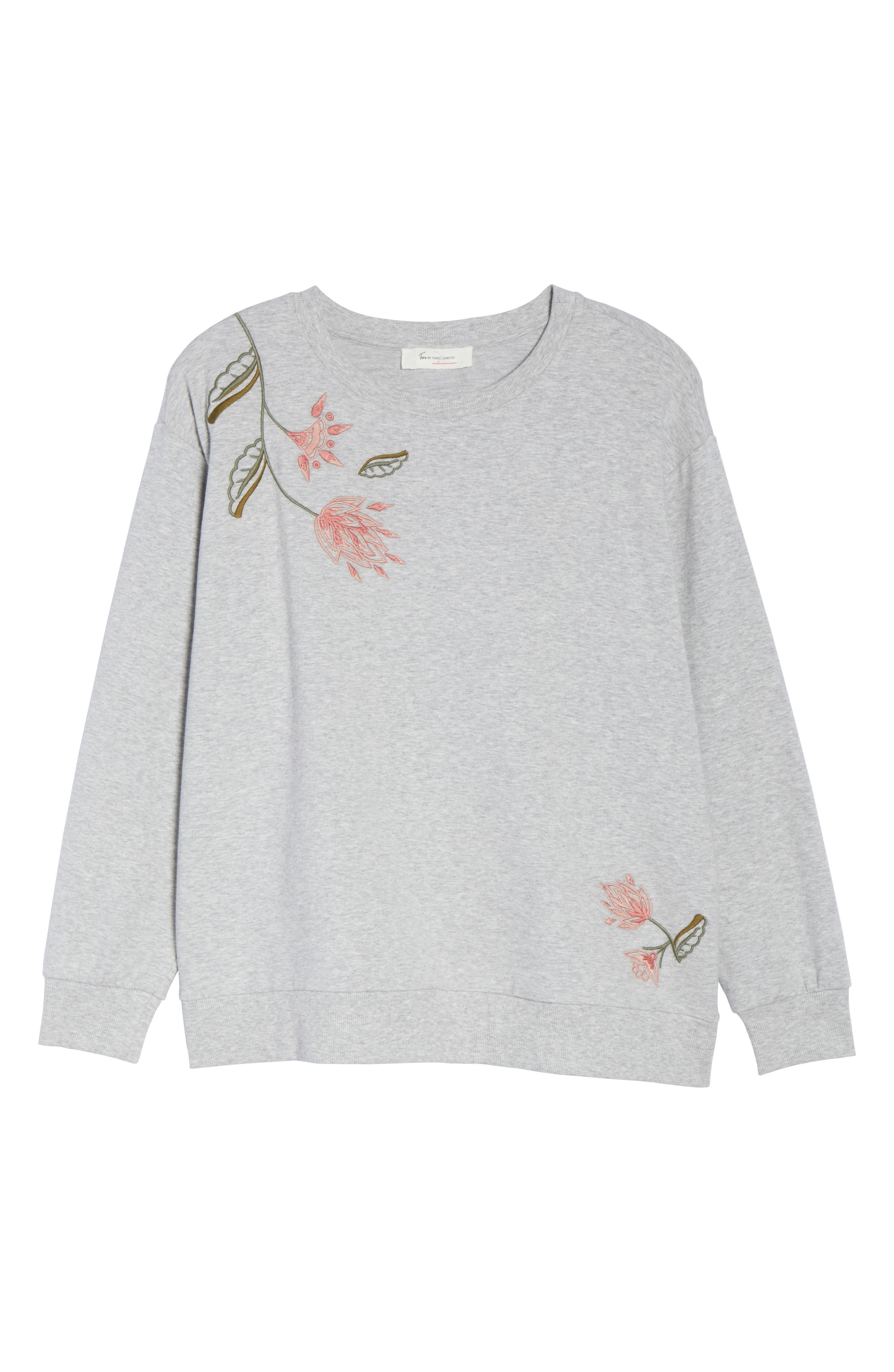 Alternate Image 6  - Two by Vince Camuto Embroidered Sweatshirt (Plus Size)