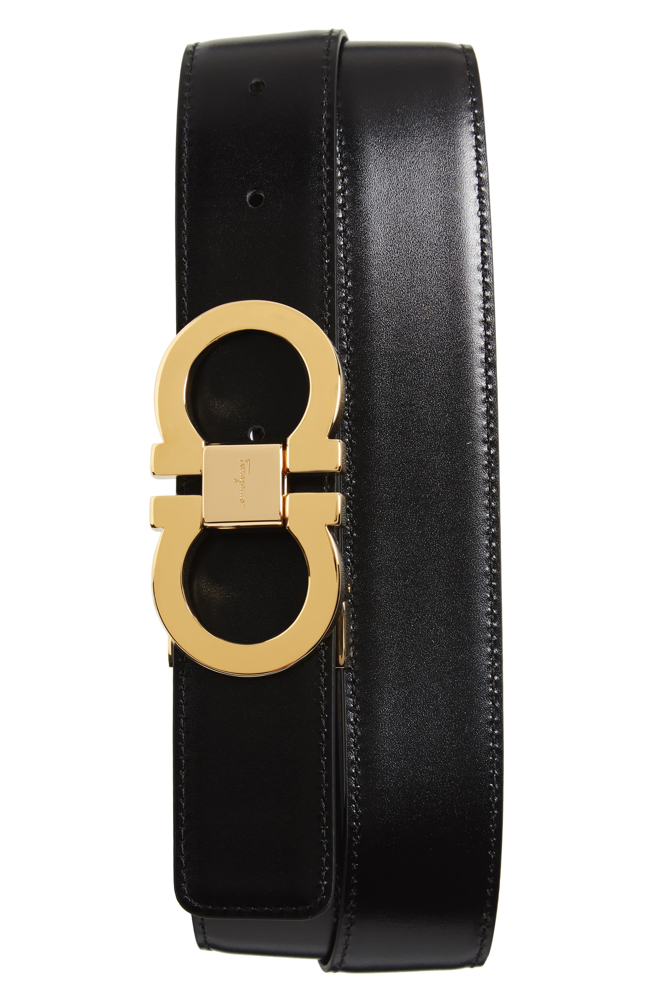 Alternate Image 2  - Salvatore Ferragamo Double Gancini Leather Belt