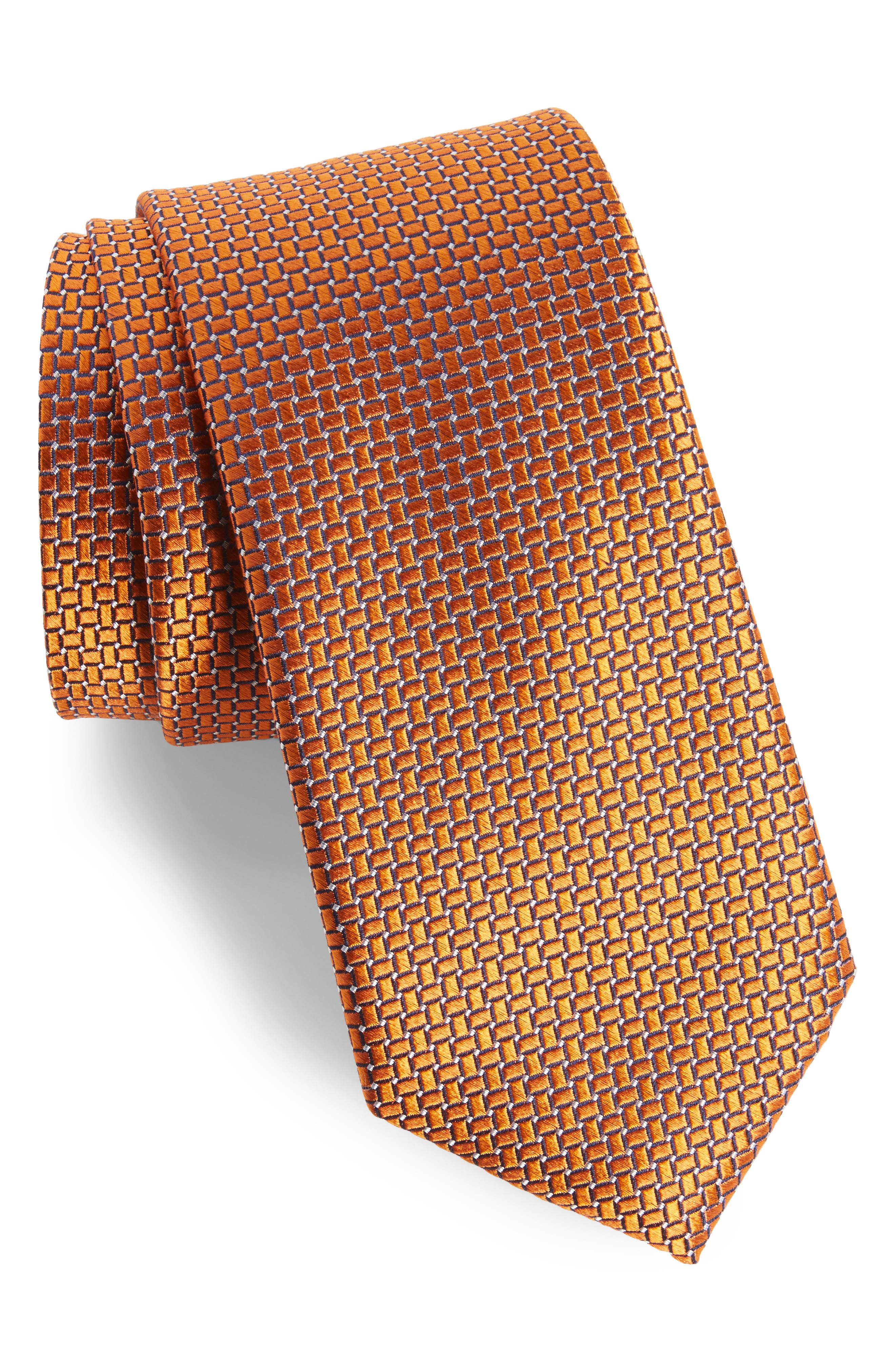 Main Image - Nordstrom Men's Shop Geometric Silk Tie