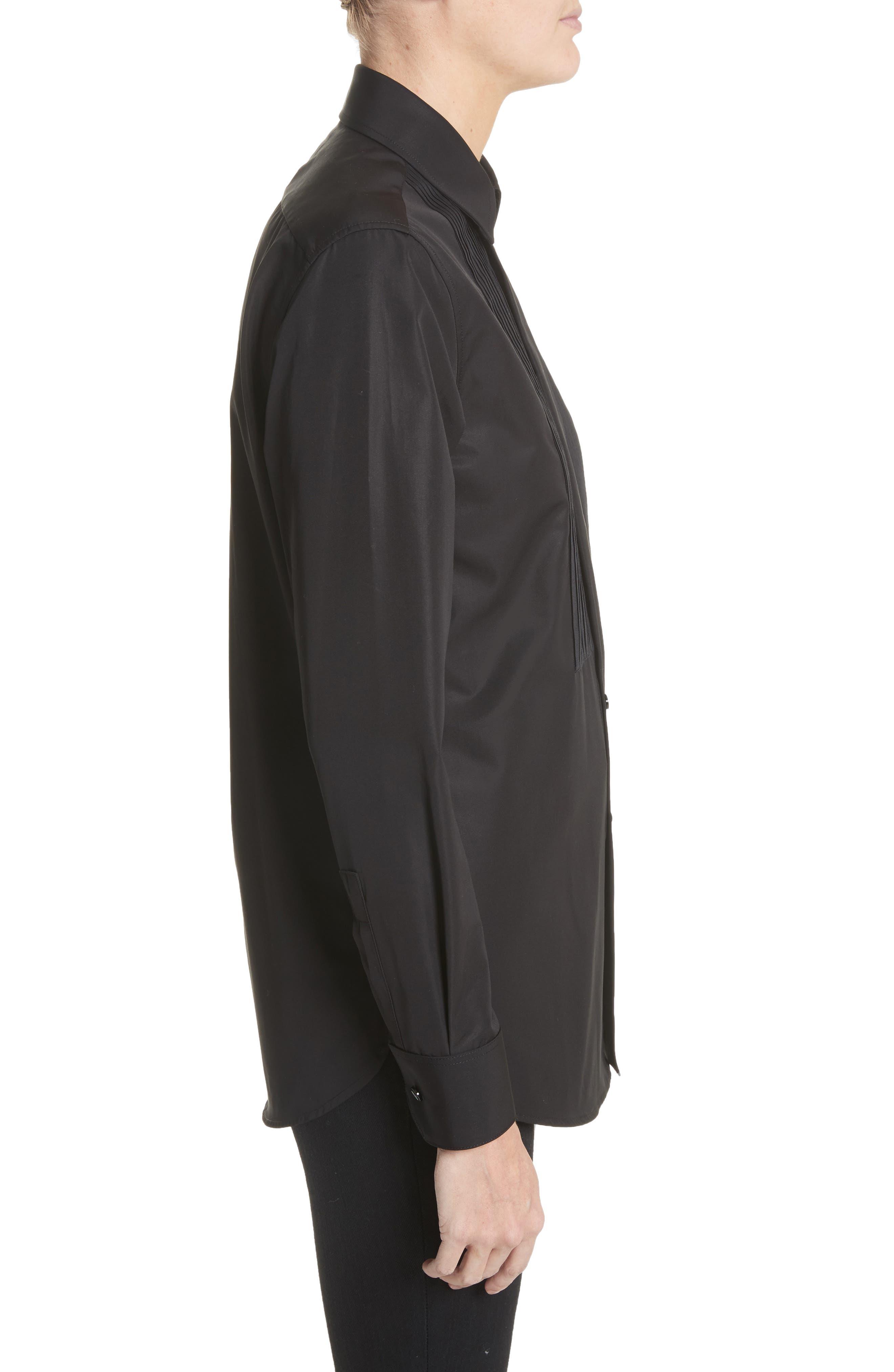 Alternate Image 3  - Saint Laurent Cotton Tuxedo Shirt