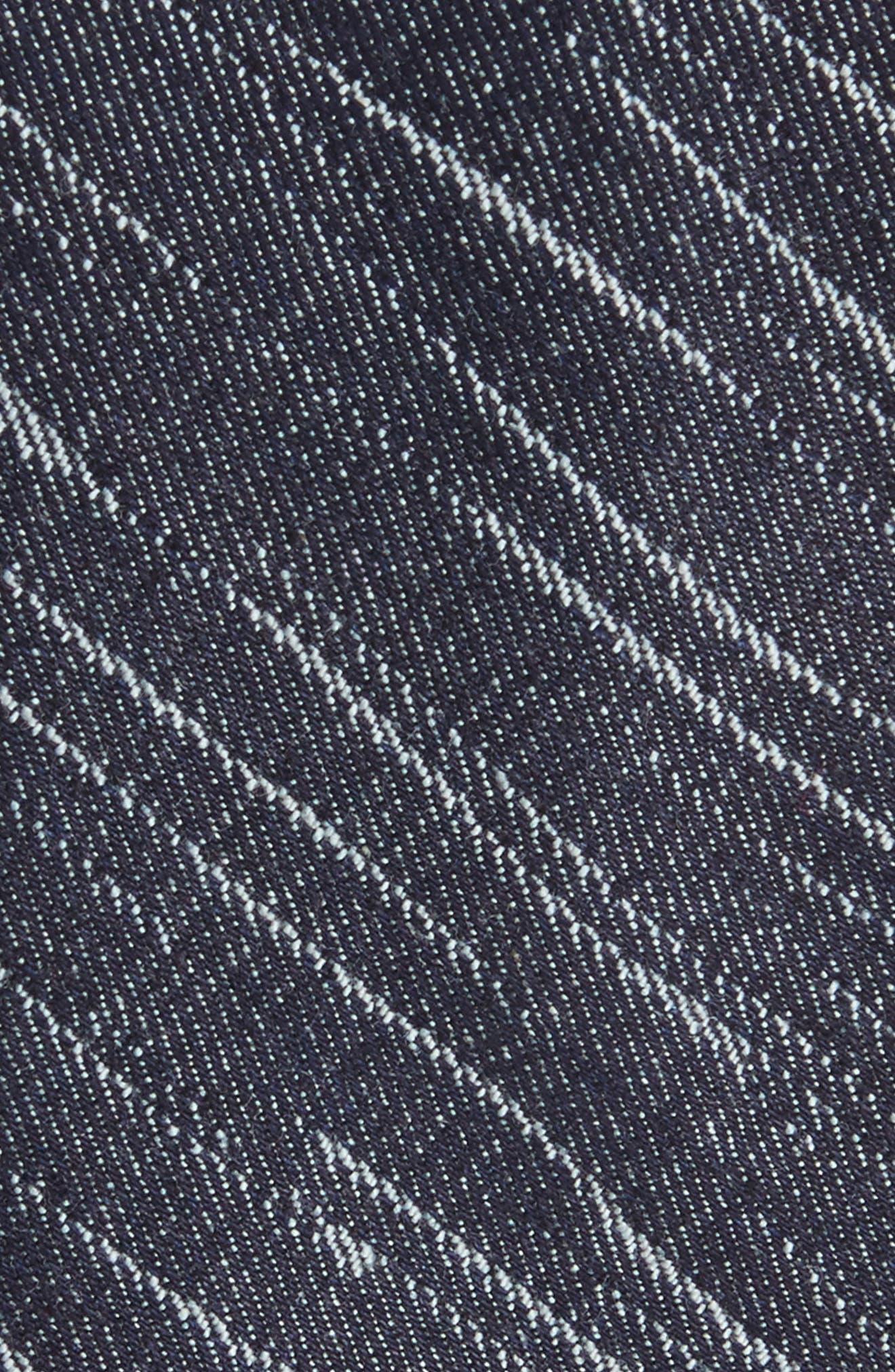 Patchwork Denim Skinny Tie,                             Alternate thumbnail 2, color,                             Denim