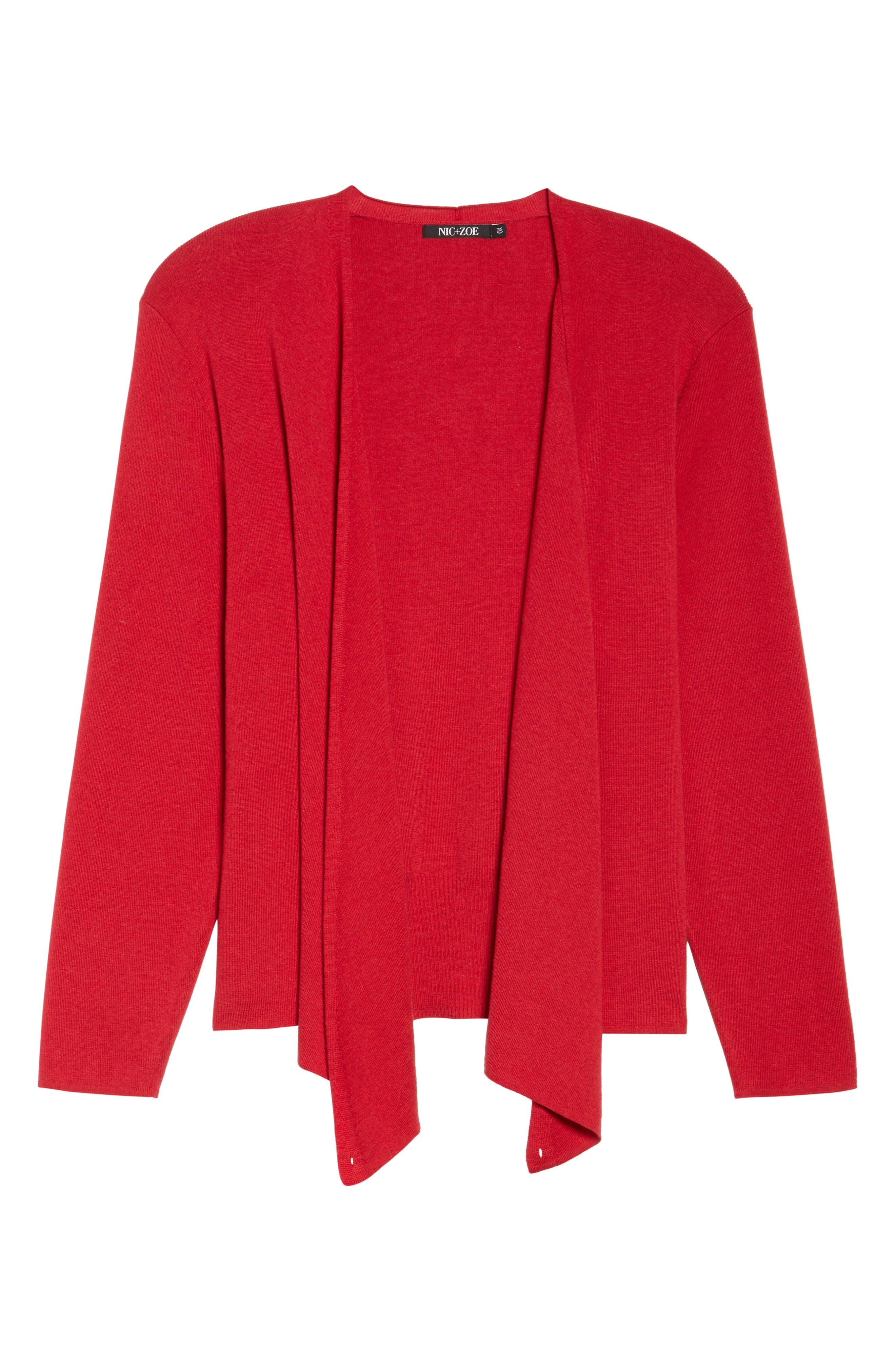 4-Way Convertible Cardigan,                             Alternate thumbnail 6, color,                             True Red