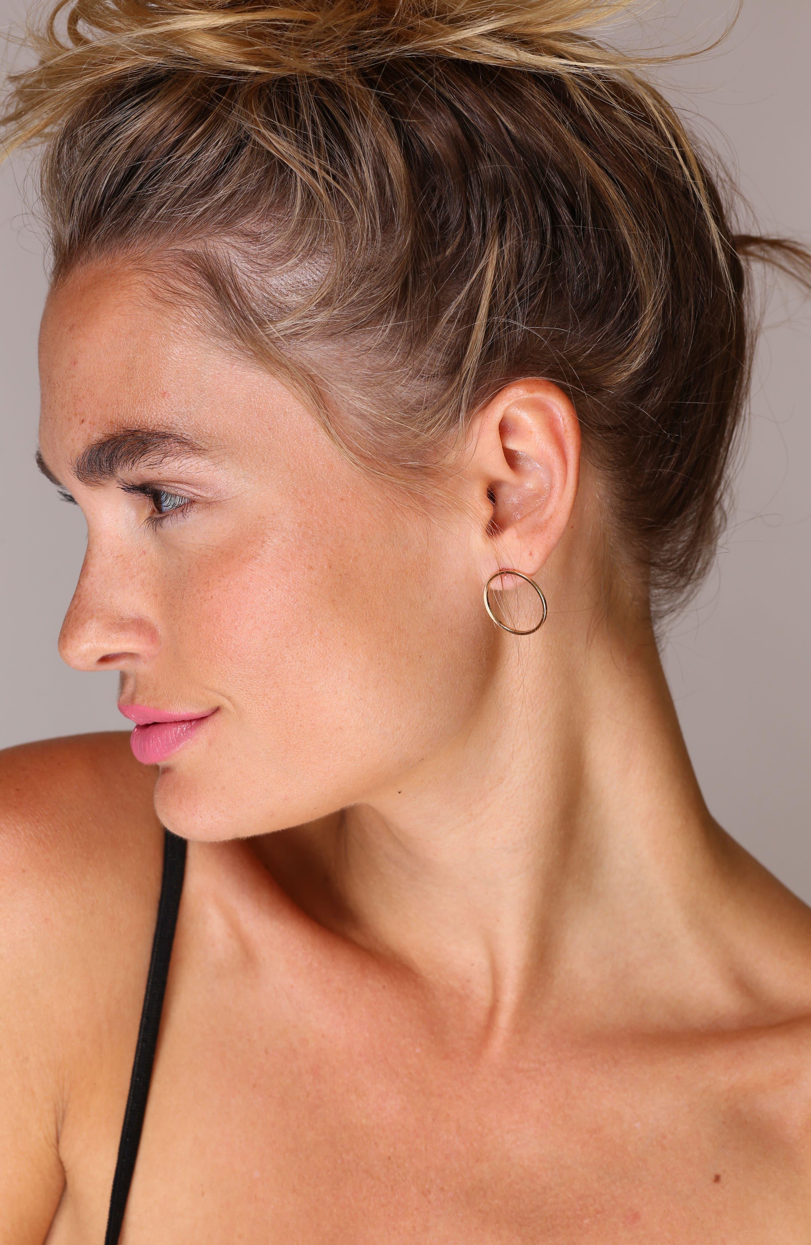 Juliette Circle Earrings,                             Alternate thumbnail 3, color,                             Gold