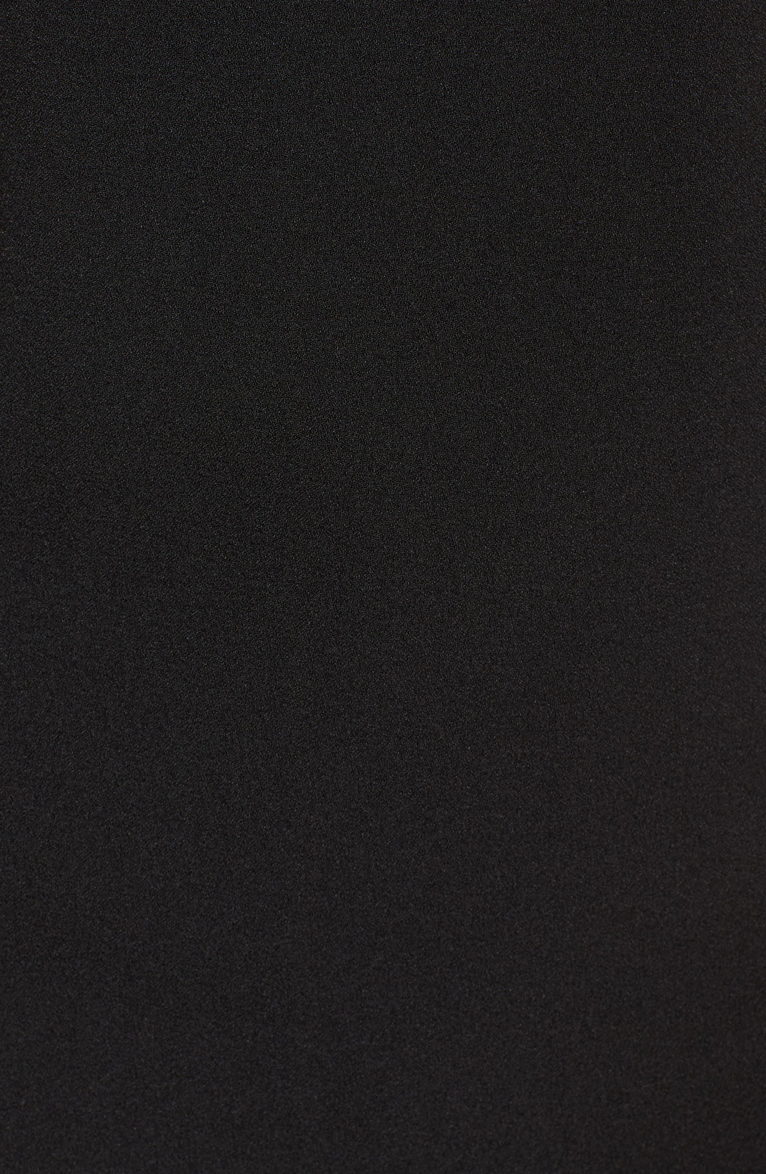 Lace Ruffle Sheath Dress,                             Alternate thumbnail 5, color,                             Black