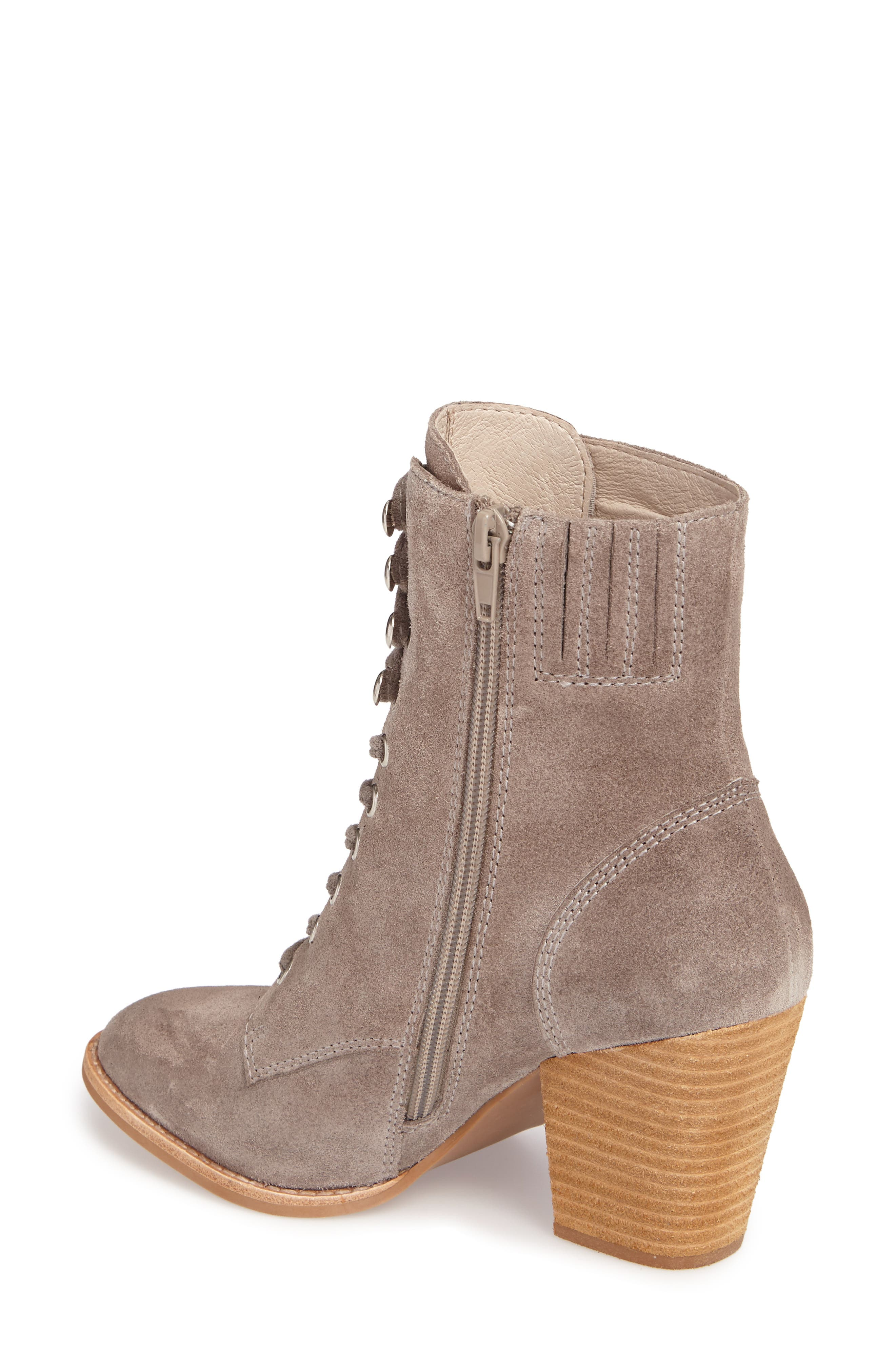 Elman Bootie,                             Alternate thumbnail 2, color,                             Taupe Suede