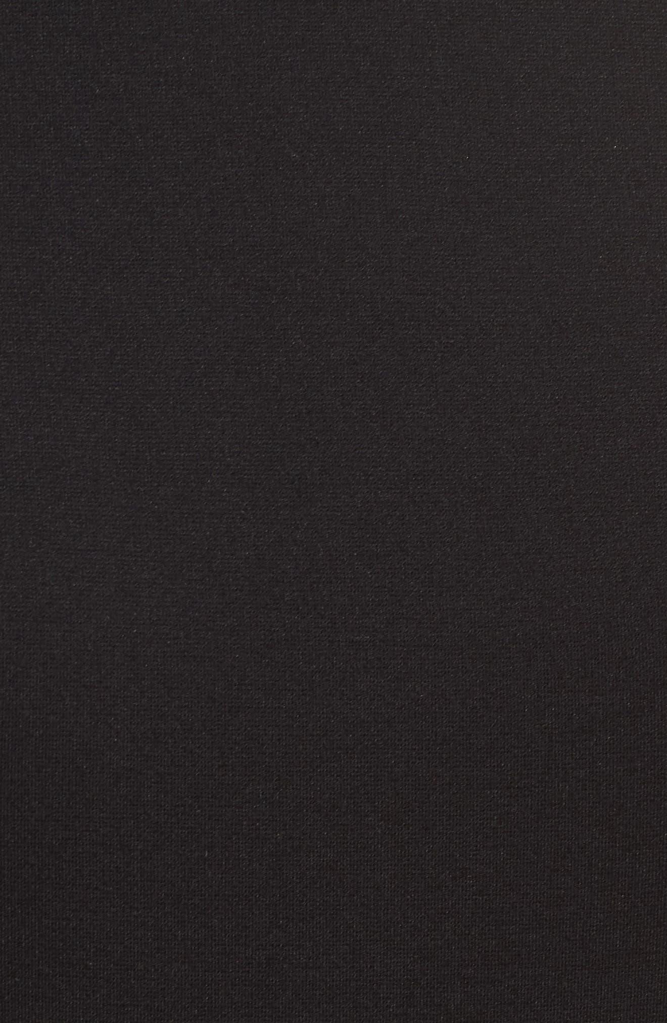 Peplum Jumpsuit,                             Alternate thumbnail 5, color,                             Black
