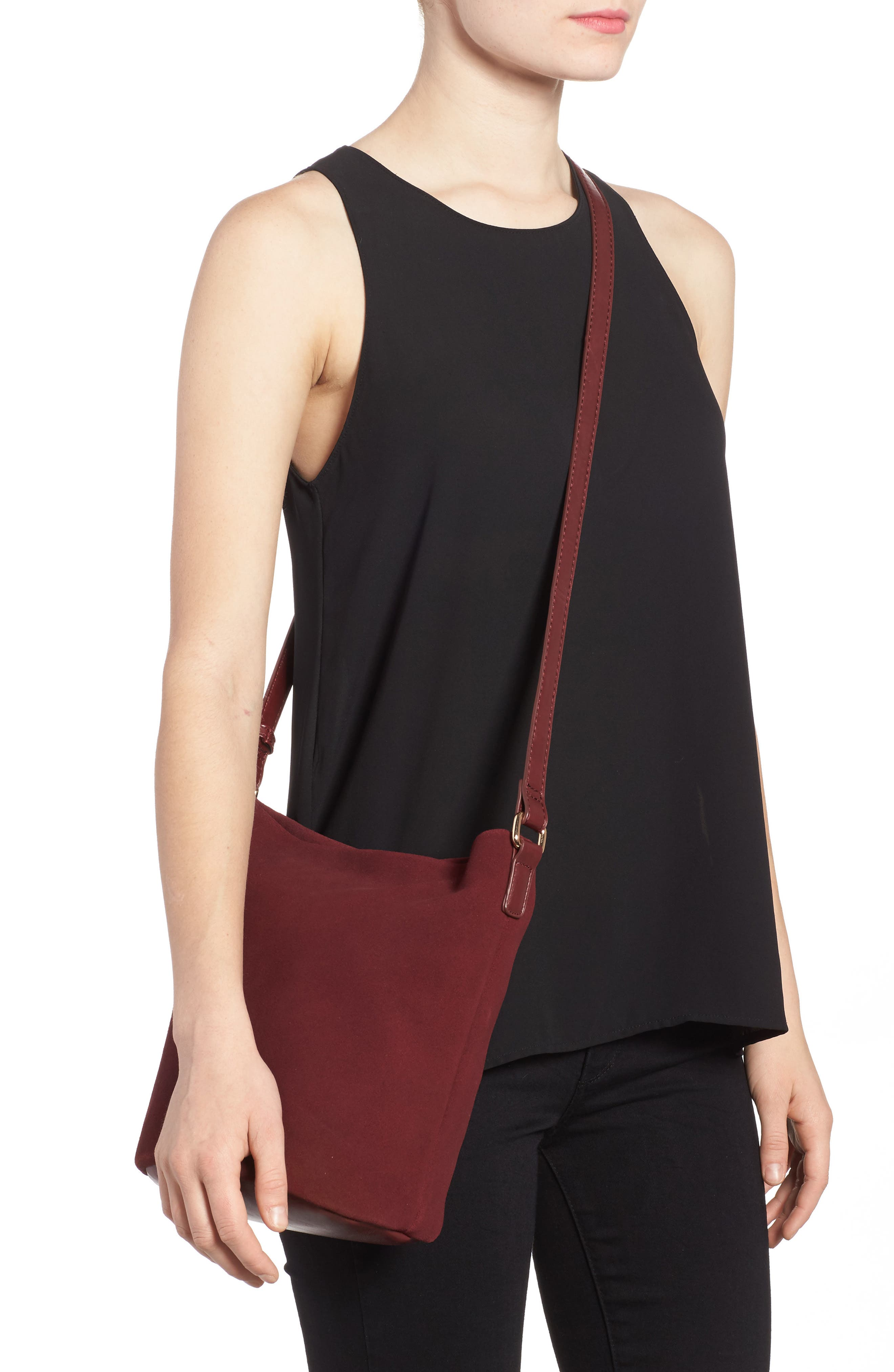 Alternate Image 2  - Sole Society Lana Slouchy Suede Crossbody Bag