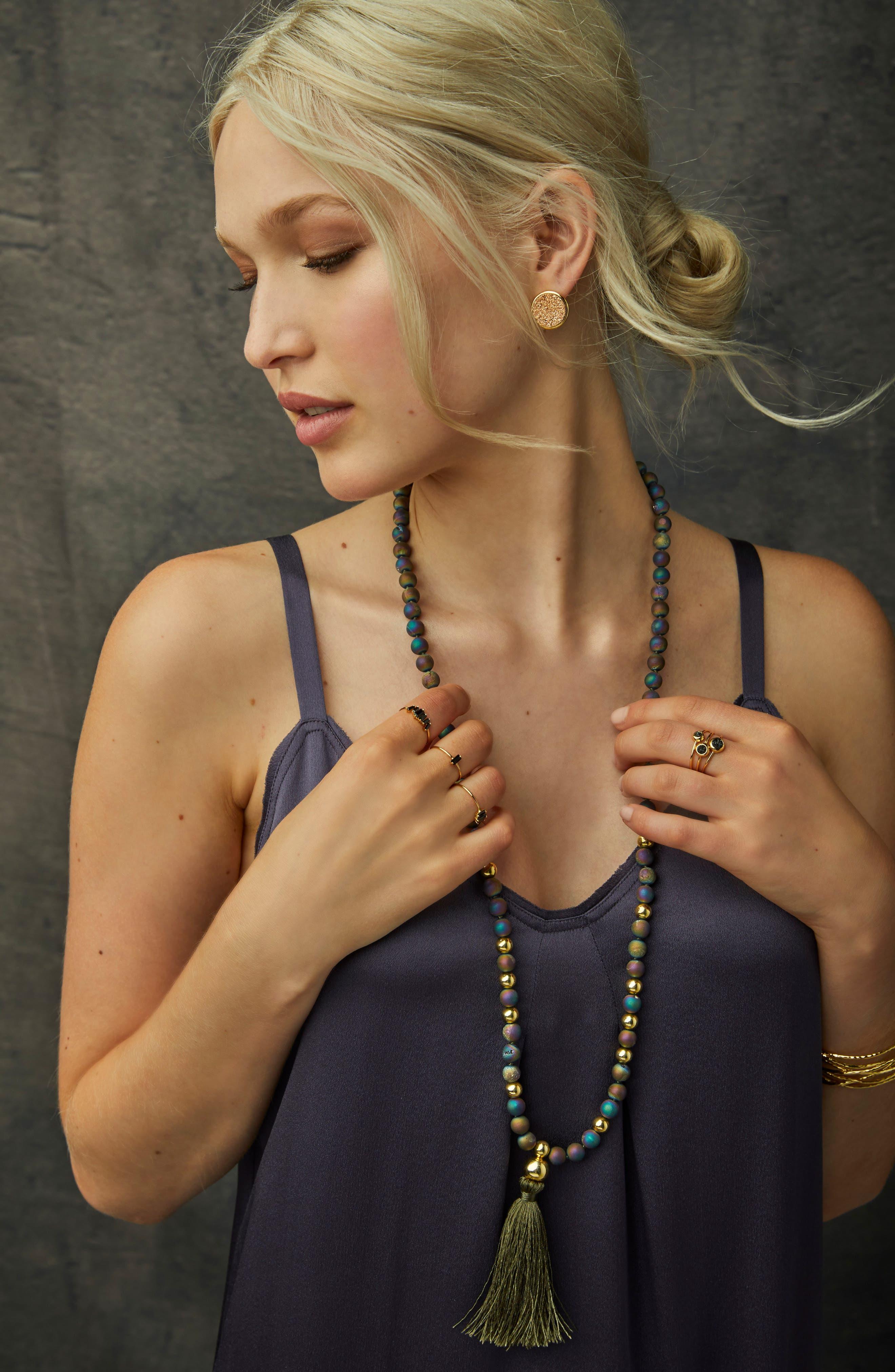 Alternate Image 2  - gorjana Hannah Drusy Tassel Necklace