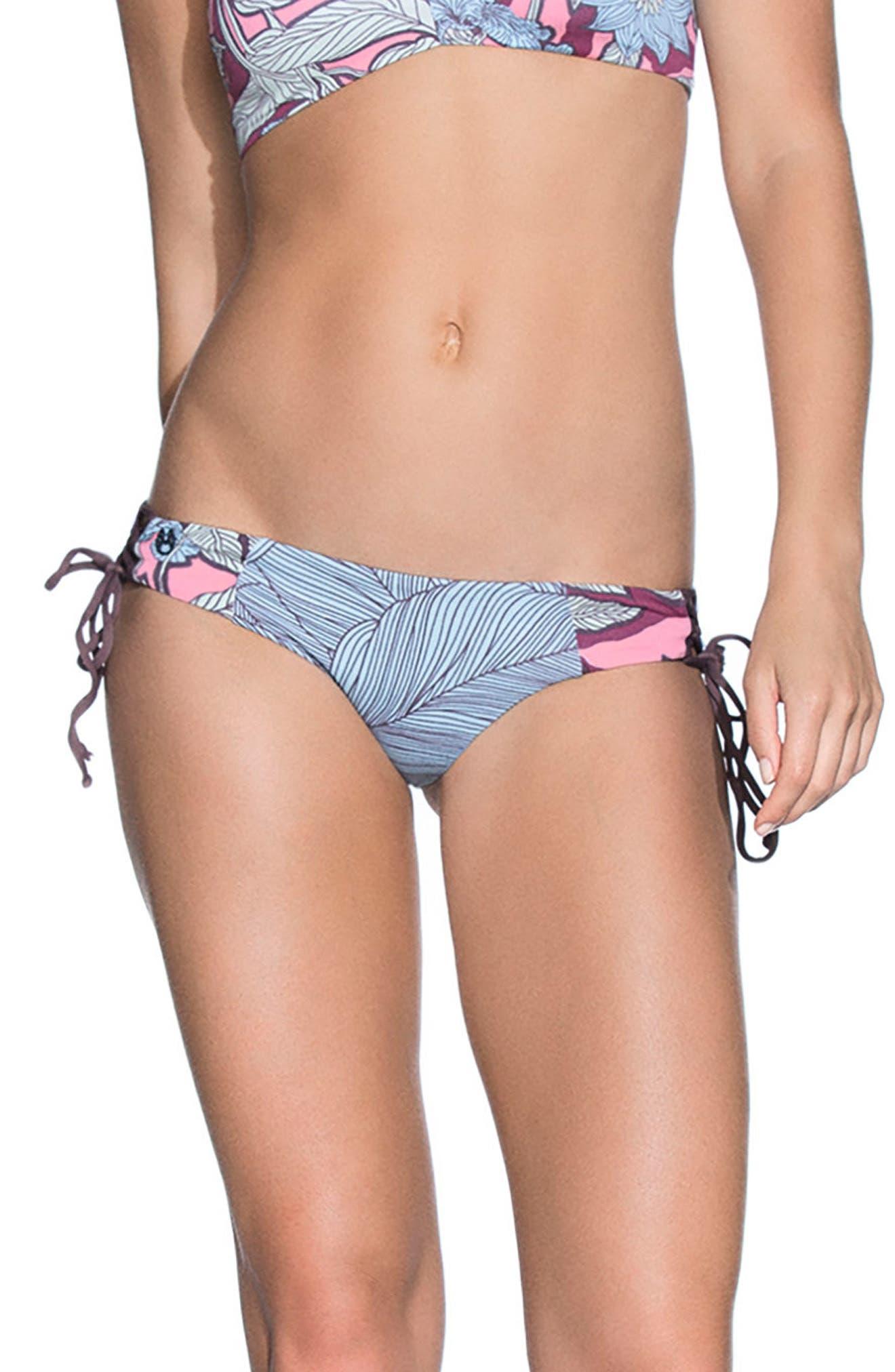 Providence Island Signature Rervsible Bikini Bottoms,                             Main thumbnail 1, color,                             Light Blue Multi