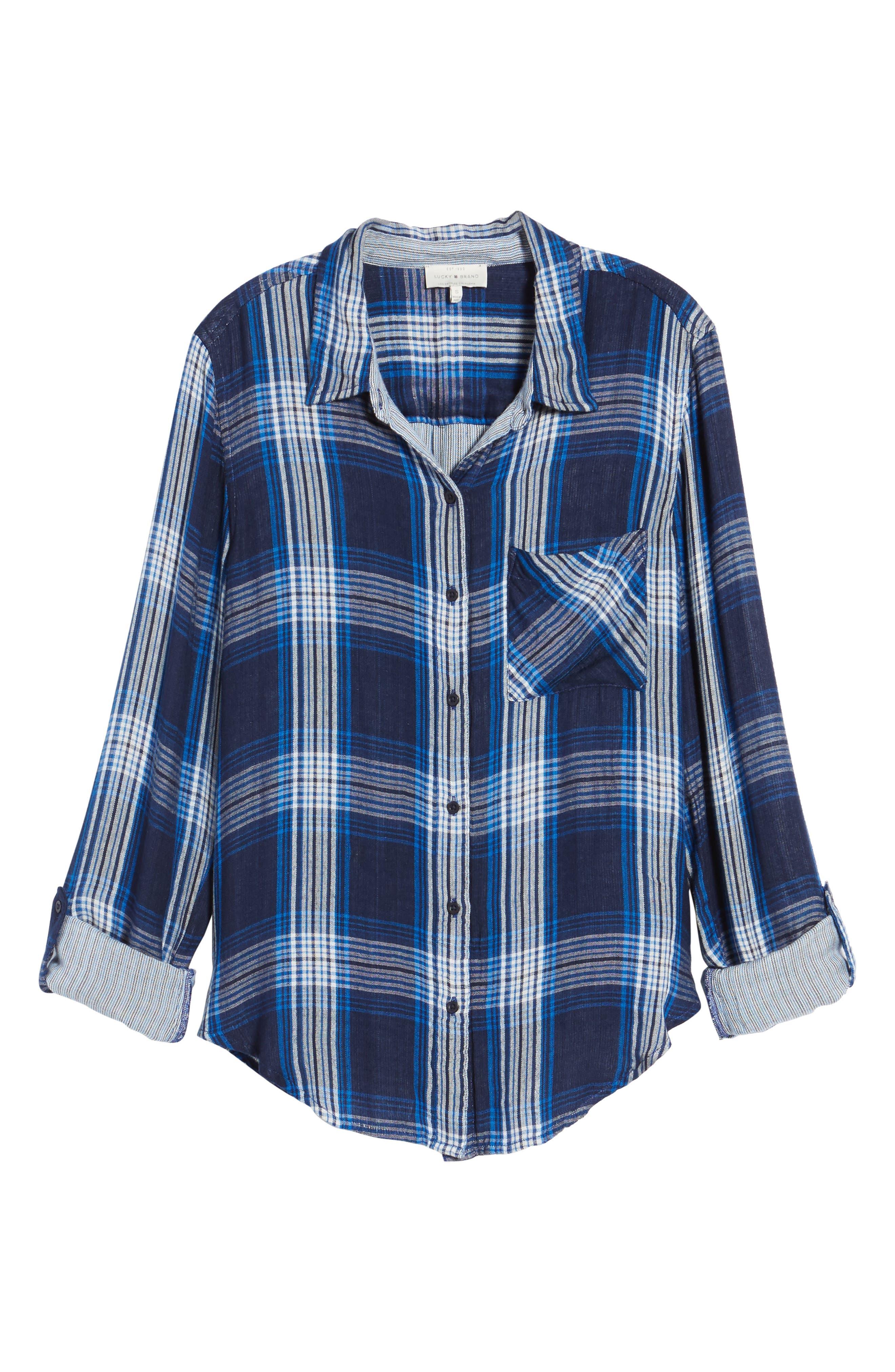 Alternate Image 6  - Lucky Brand Plaid Pocket Shirt