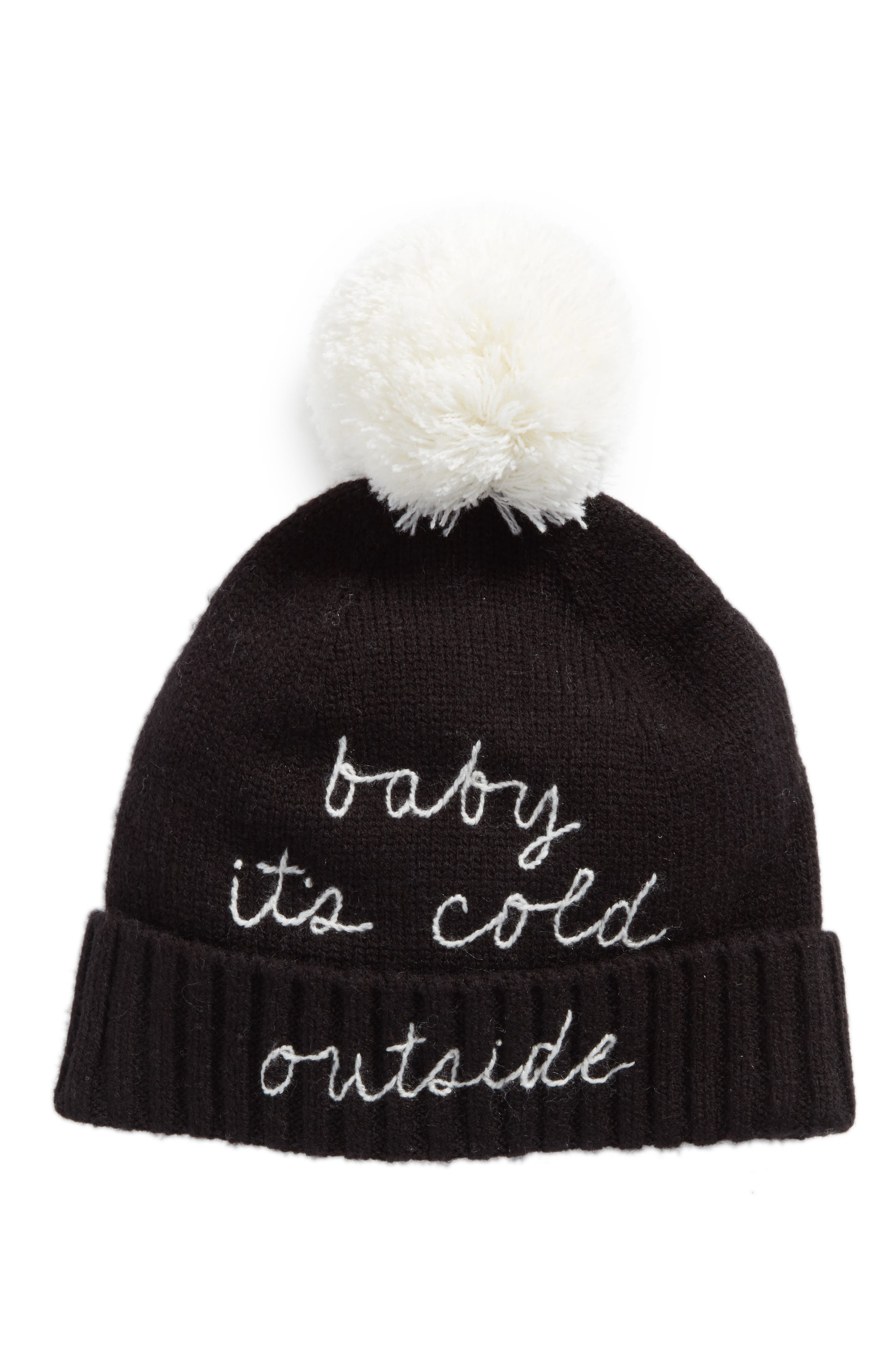 kate spade new york baby it's cold outside pom beanie