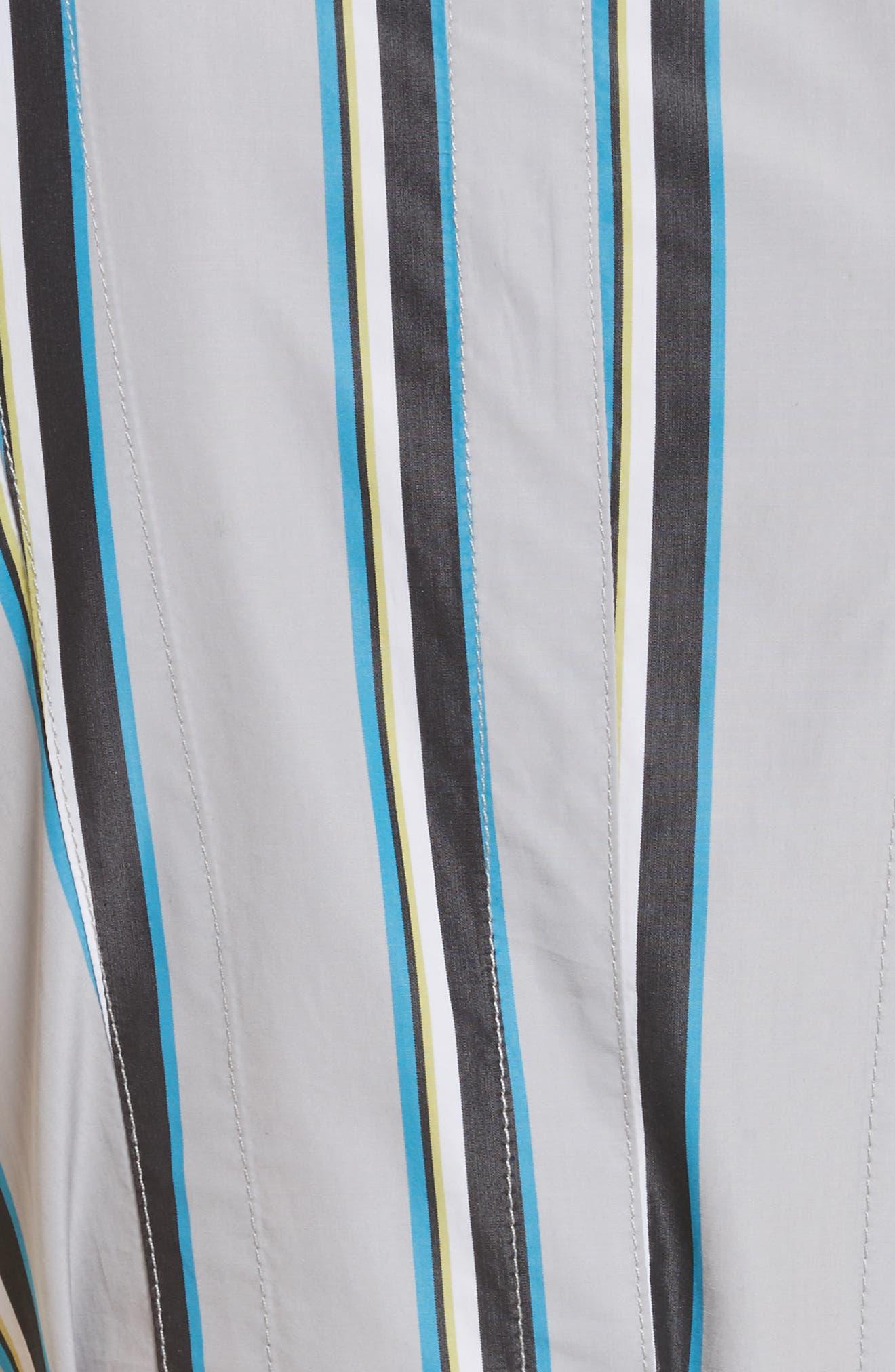 Diane von Furstenberg Stripe Belted Maxi Dress,                             Alternate thumbnail 5, color,                             Smoke Multi