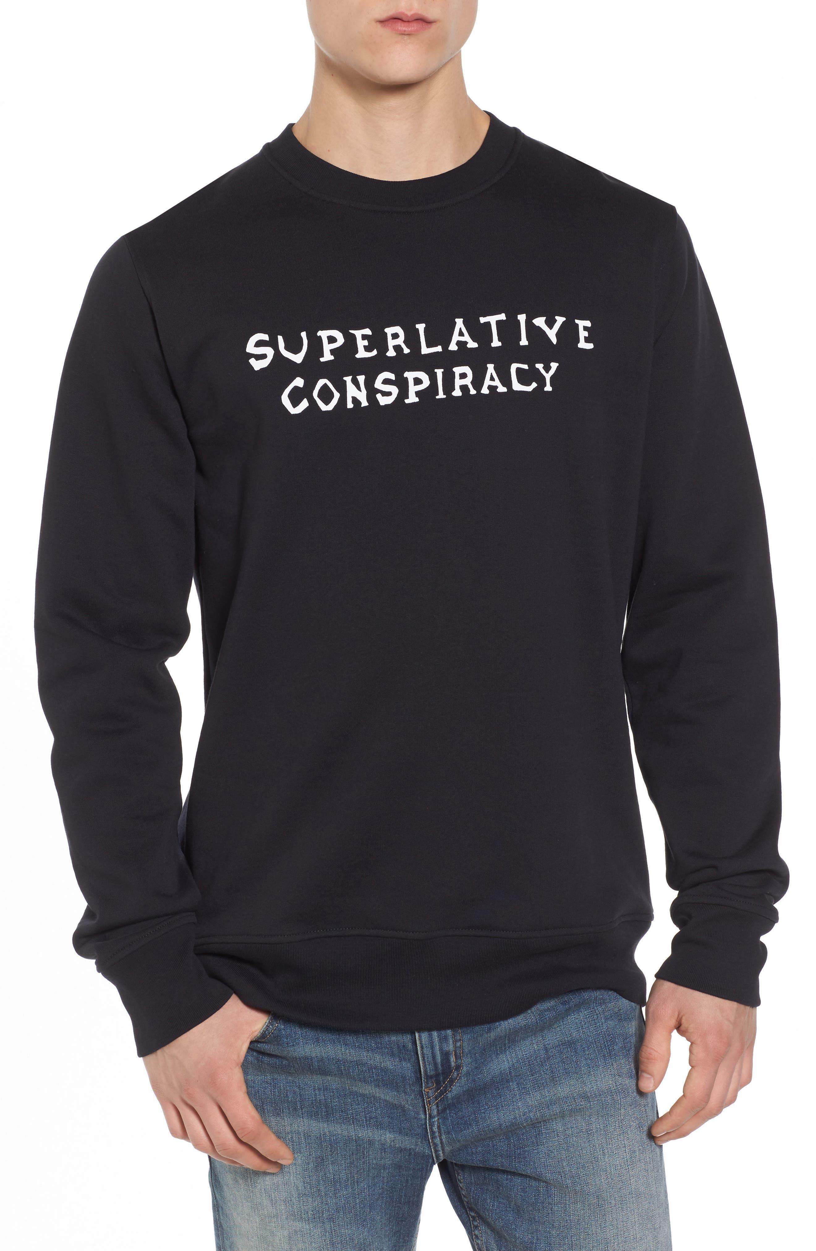 WeSC Miles Graphic Fleece Sweatshirt