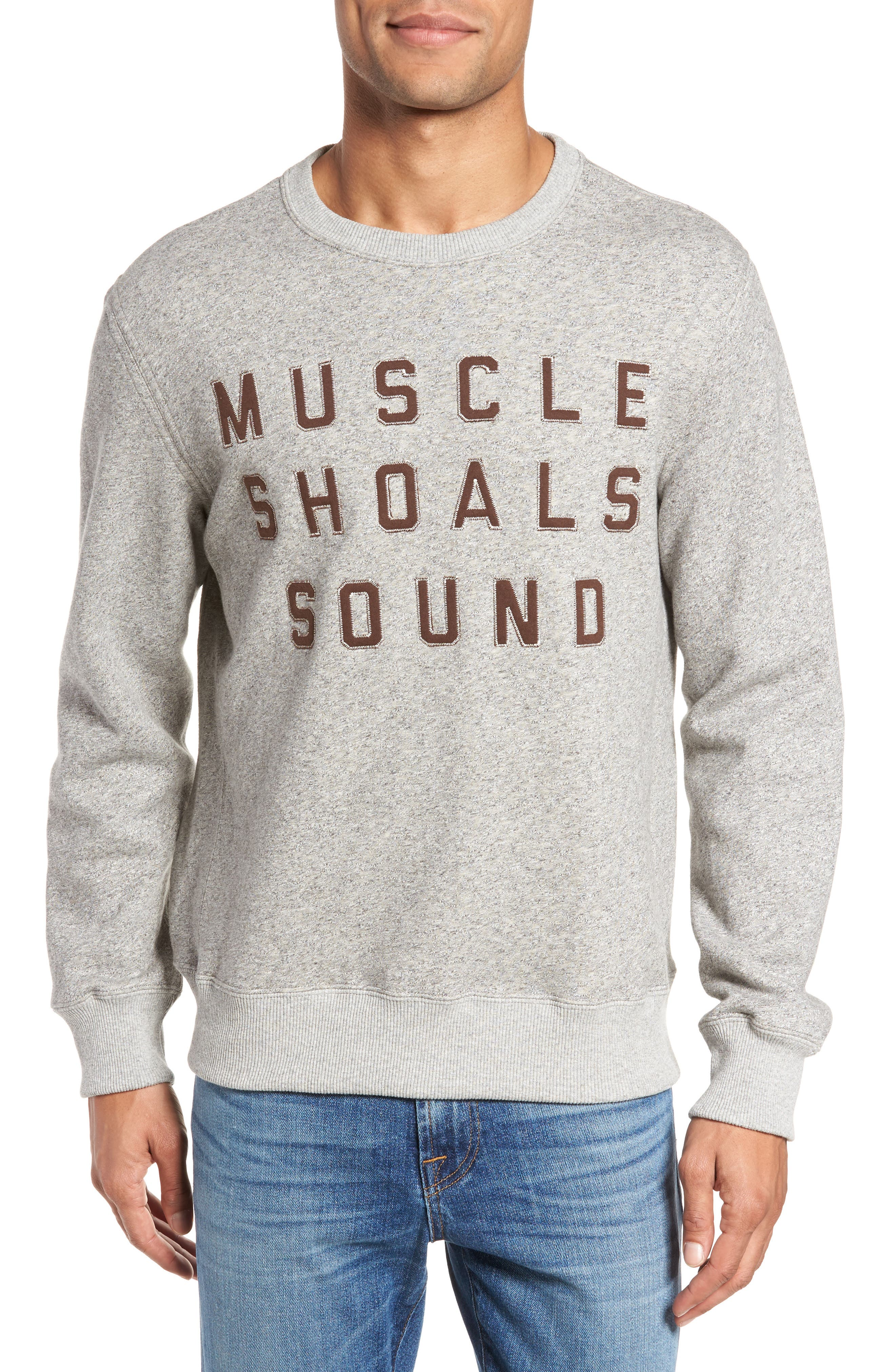 Muscle Shoals Sound Pullover,                         Main,                         color, Light Heather Grey