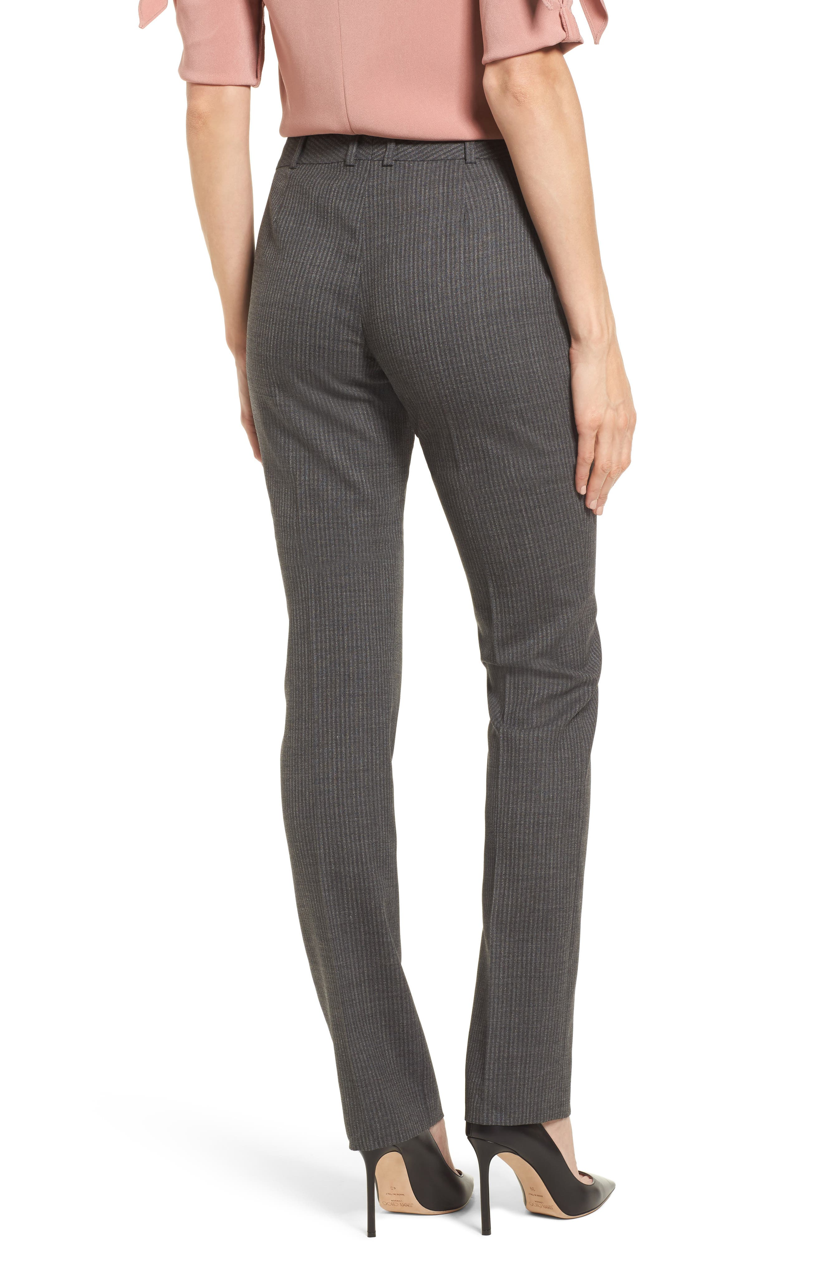 Titana Stretch Wool Trousers,                             Alternate thumbnail 2, color,                             Dark Grey Fantasy