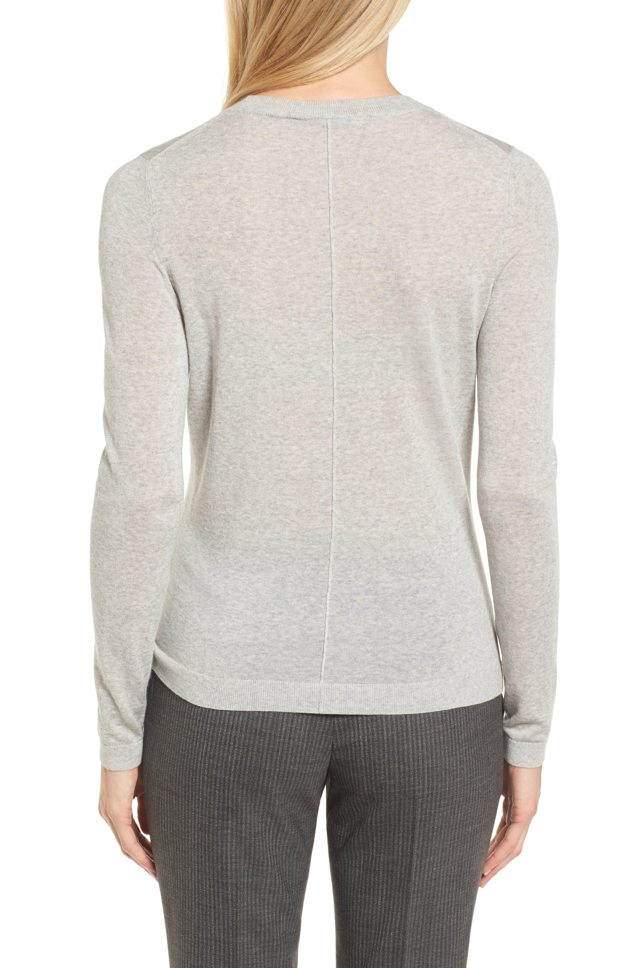 Fayme Wool Crewneck Sweater,                             Alternate thumbnail 2, color,                             Cozy Grey Melange
