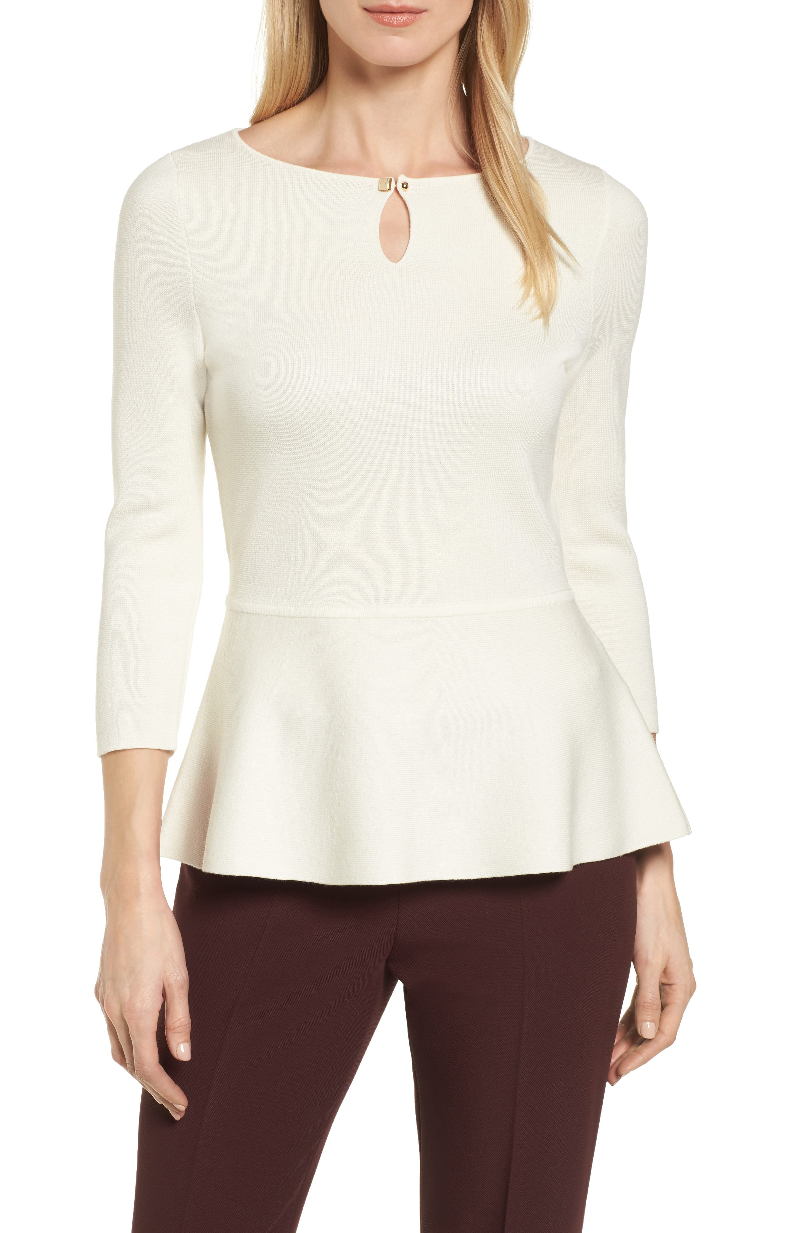 Fylle Wool Sweater,                         Main,                         color, Vanilla Light