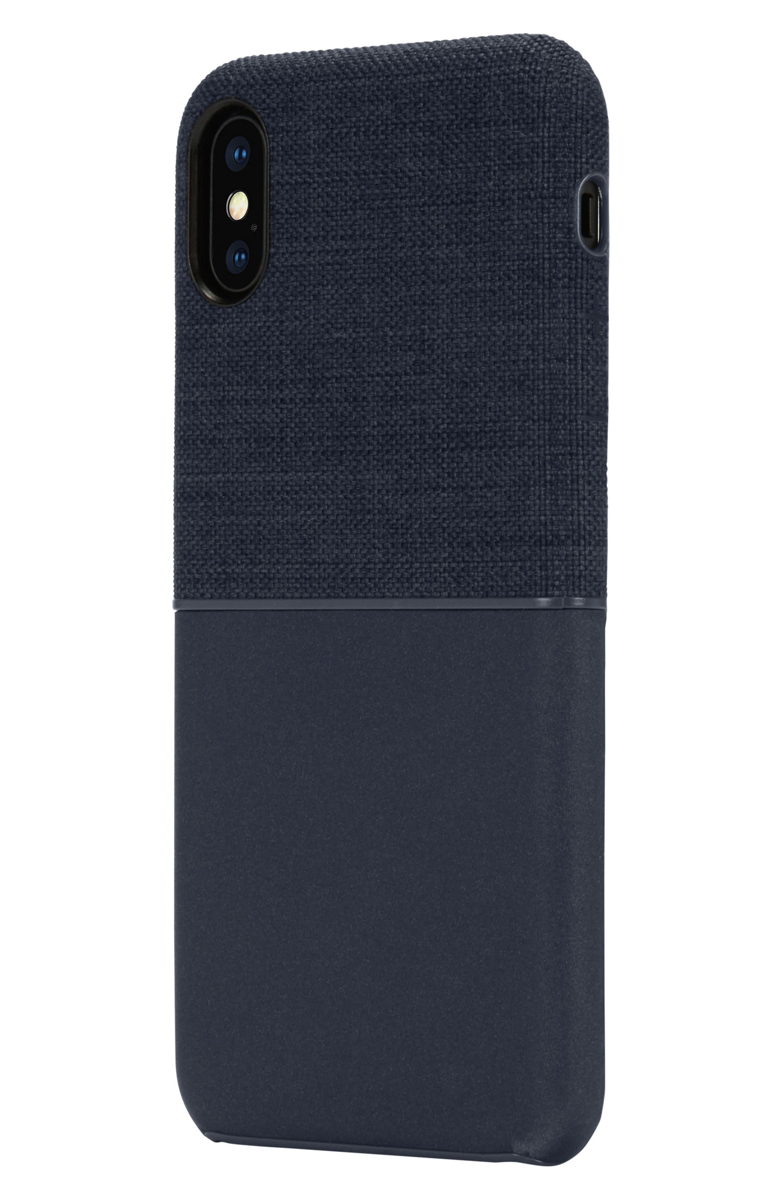 Textured Snap iPhone X Case,                             Alternate thumbnail 2, color,                             Navy