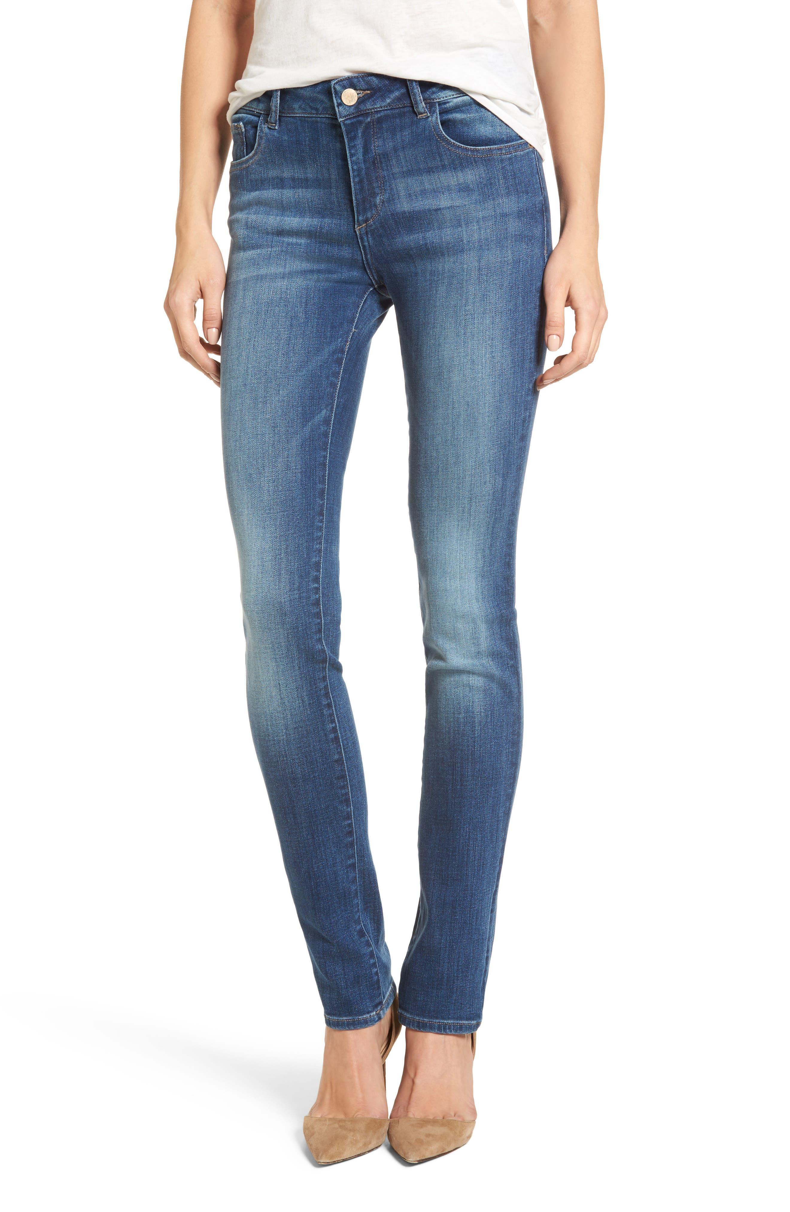 Mara Straight Leg Jeans,                             Main thumbnail 1, color,                             Spring Lake