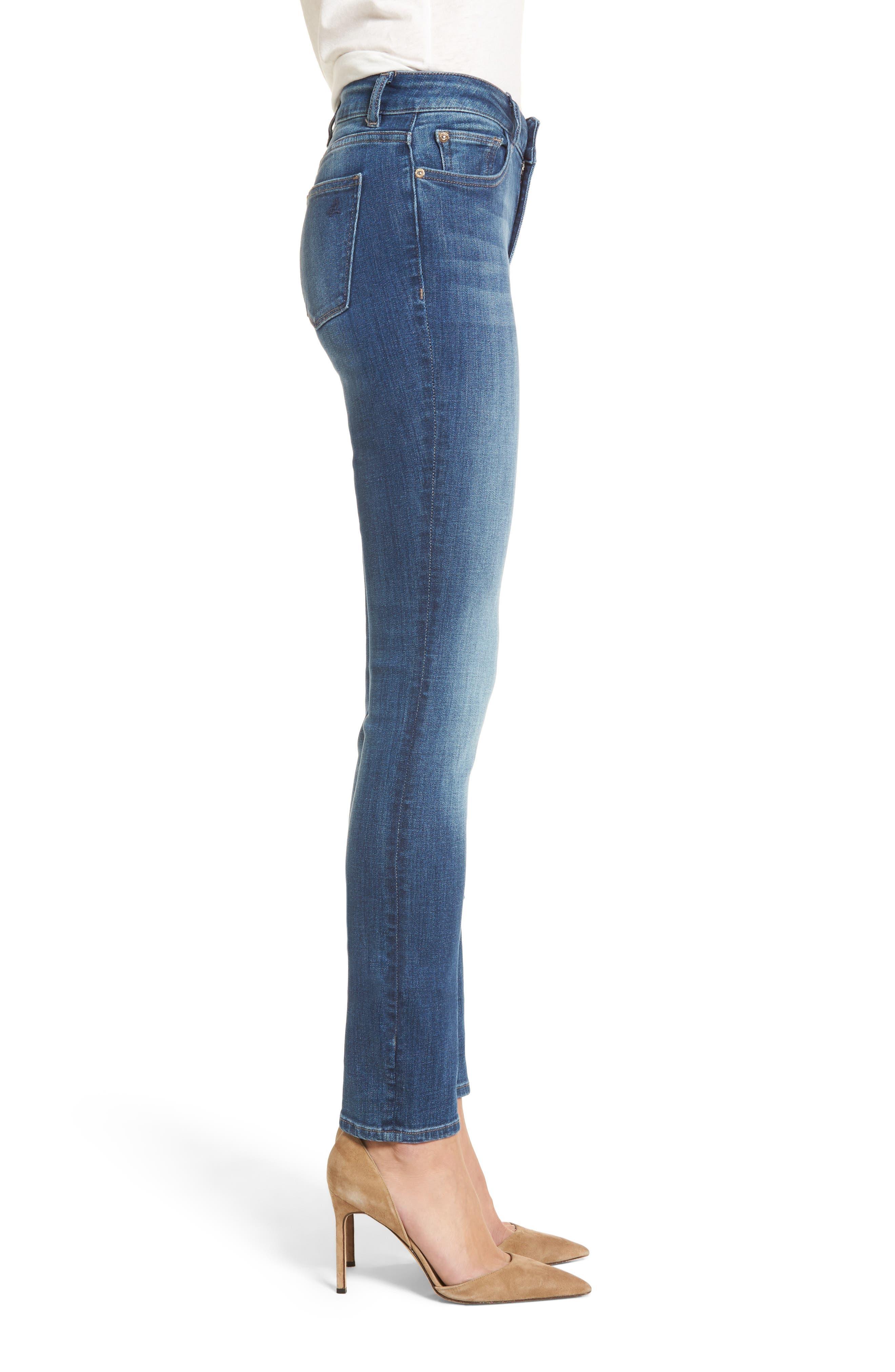 Mara Straight Leg Jeans,                             Alternate thumbnail 3, color,                             Spring Lake