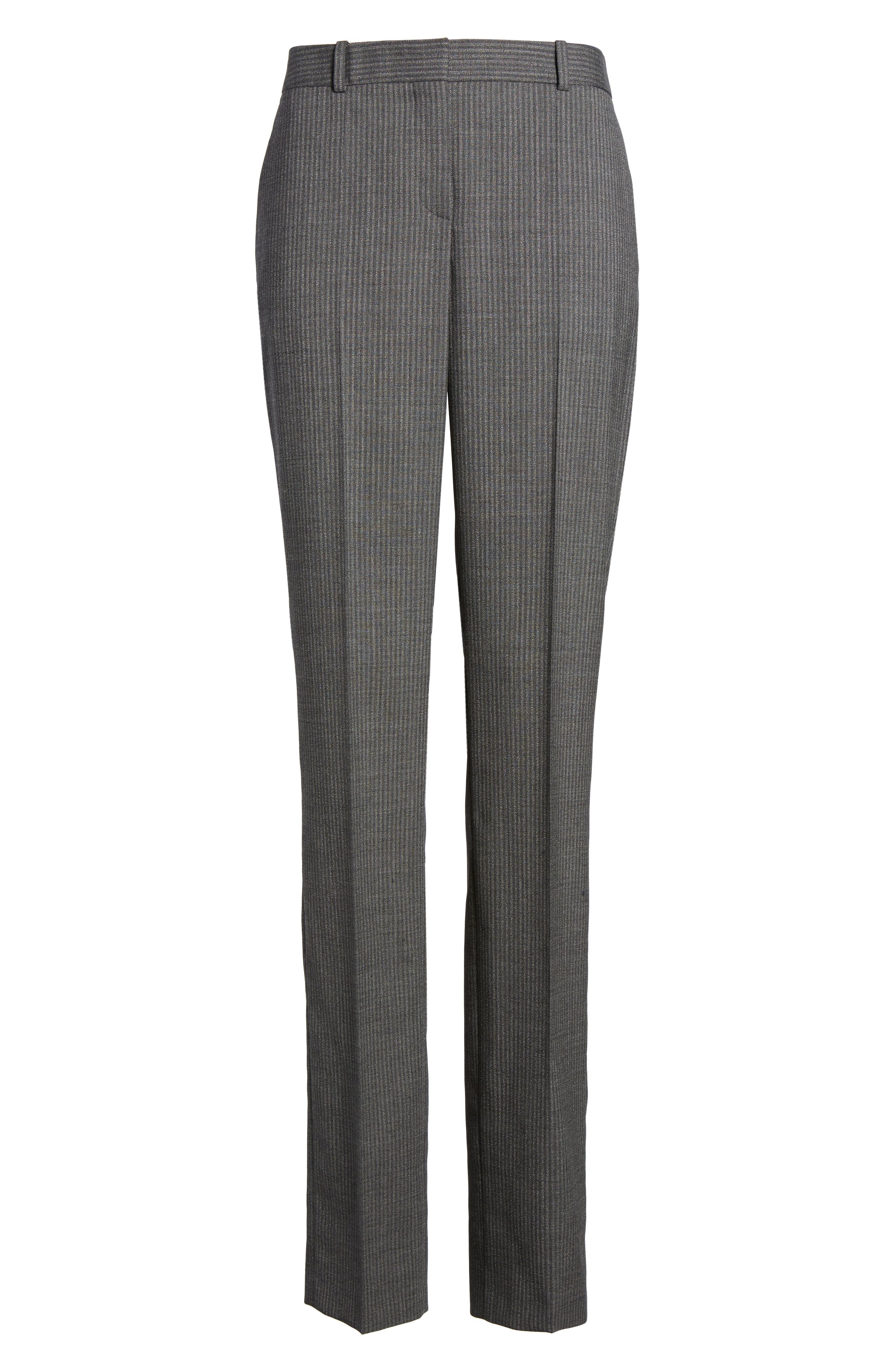 Titana Stretch Wool Trousers,                             Alternate thumbnail 6, color,                             Dark Grey Fantasy