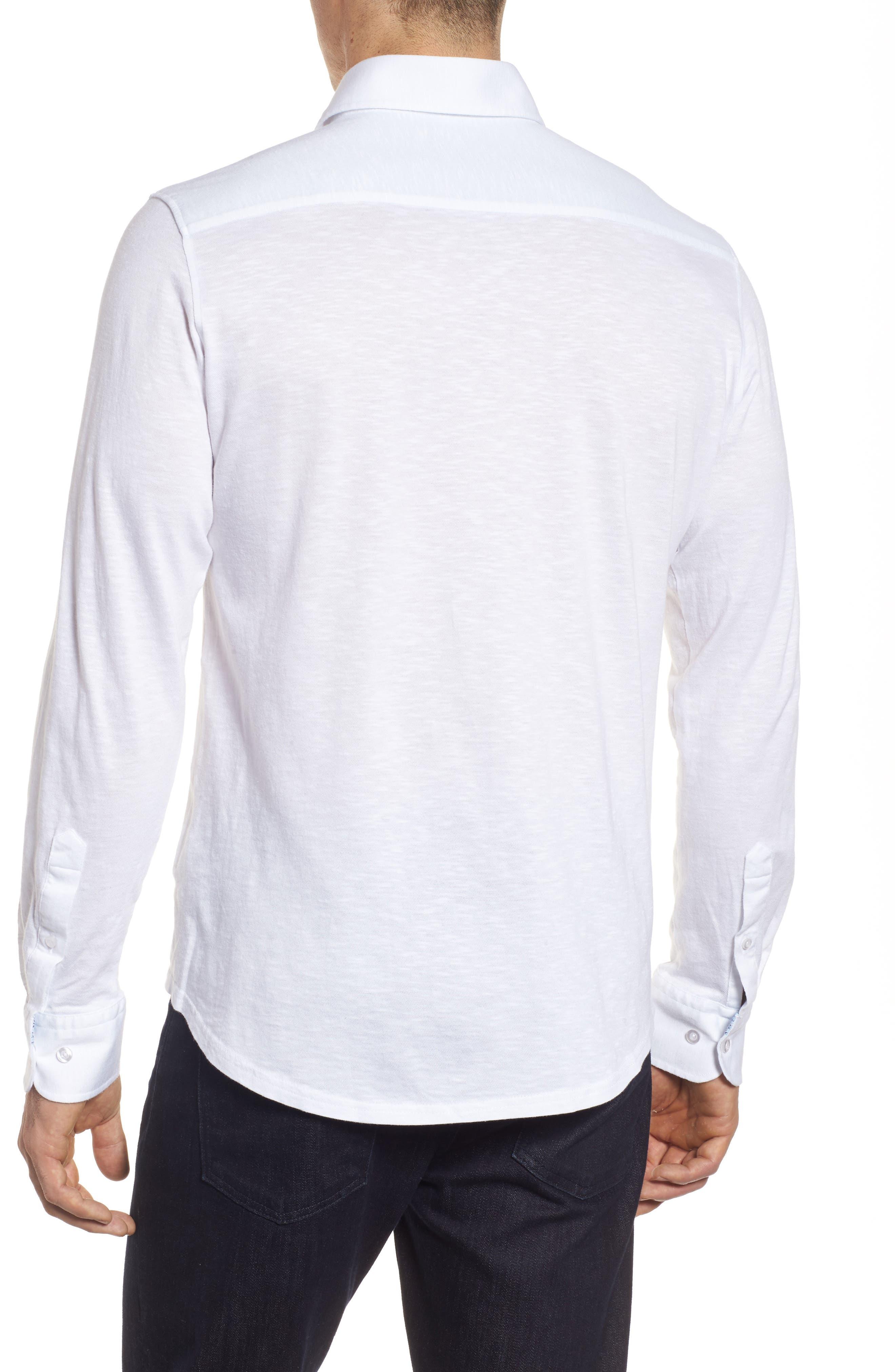 Slub Knit Sport Shirt,                             Alternate thumbnail 2, color,                             White