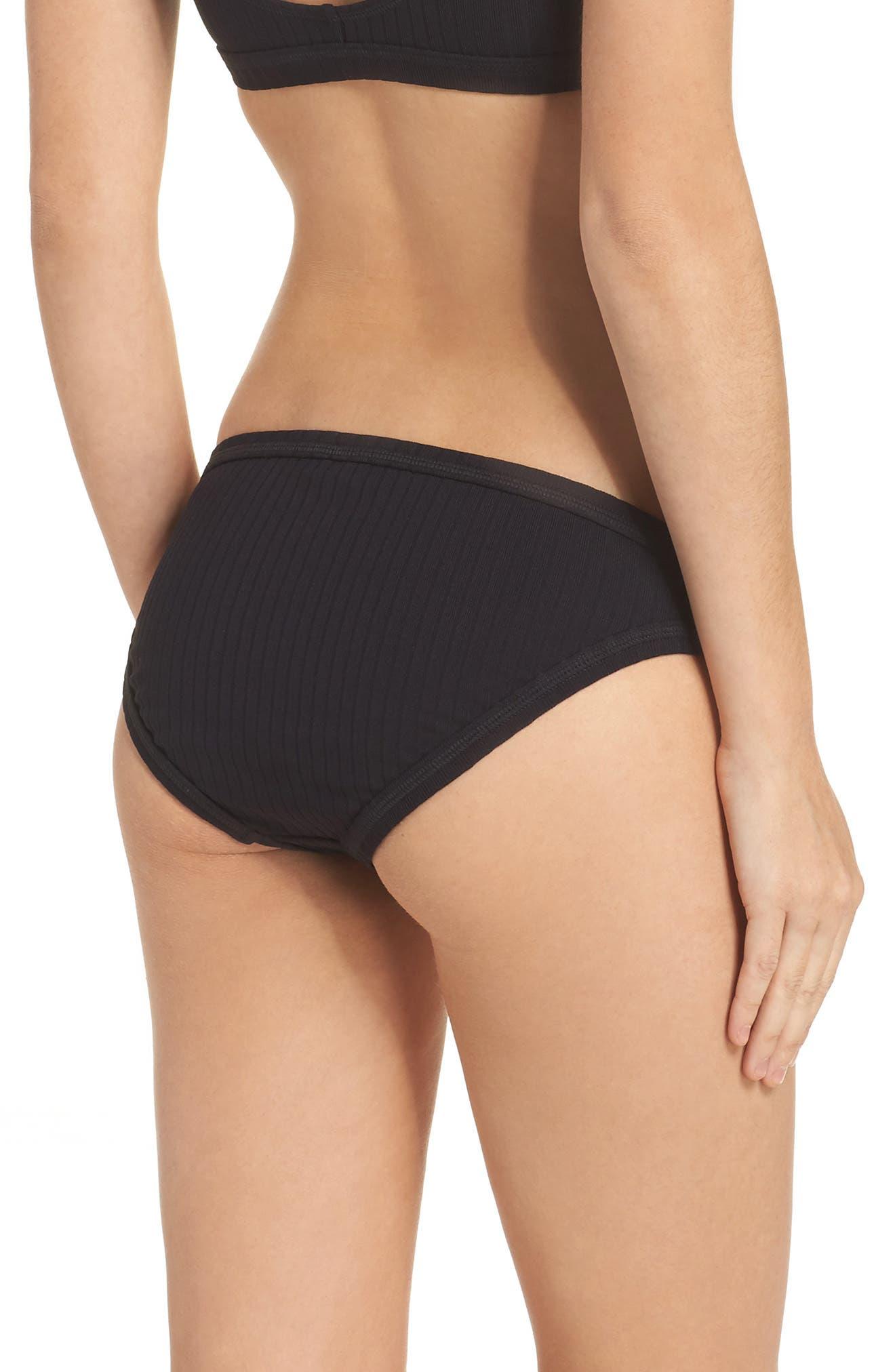 Alternate Image 2  - Seafolly Inka Ribbed Bikini Bottoms