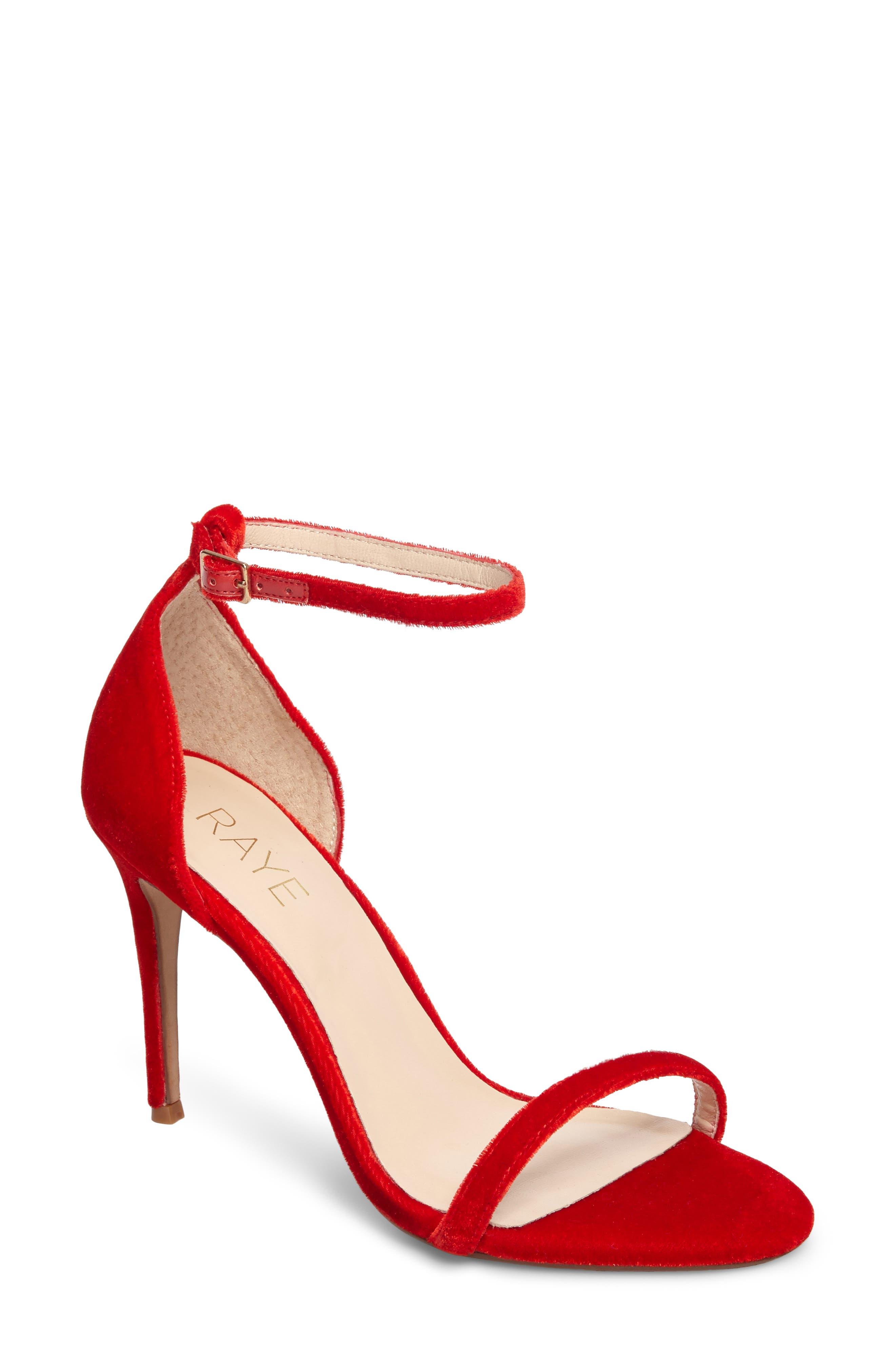 Raye Blake Velvet Stiletto Sandal (Women)
