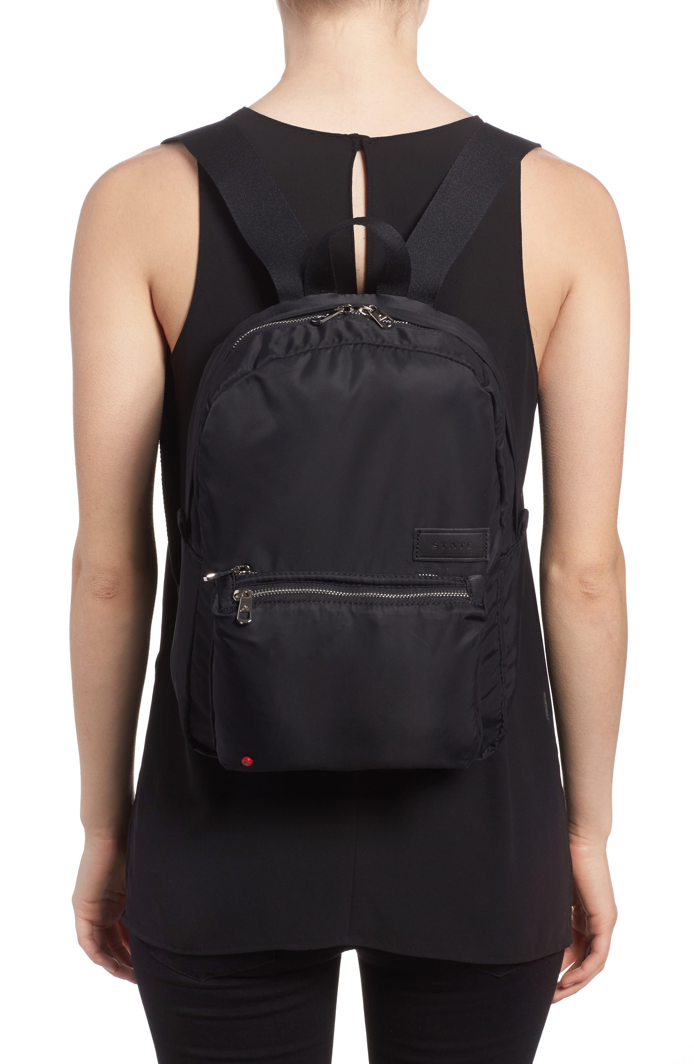The Heights Mini Lorimer Nylon Backpack,                             Alternate thumbnail 2, color,                             Black