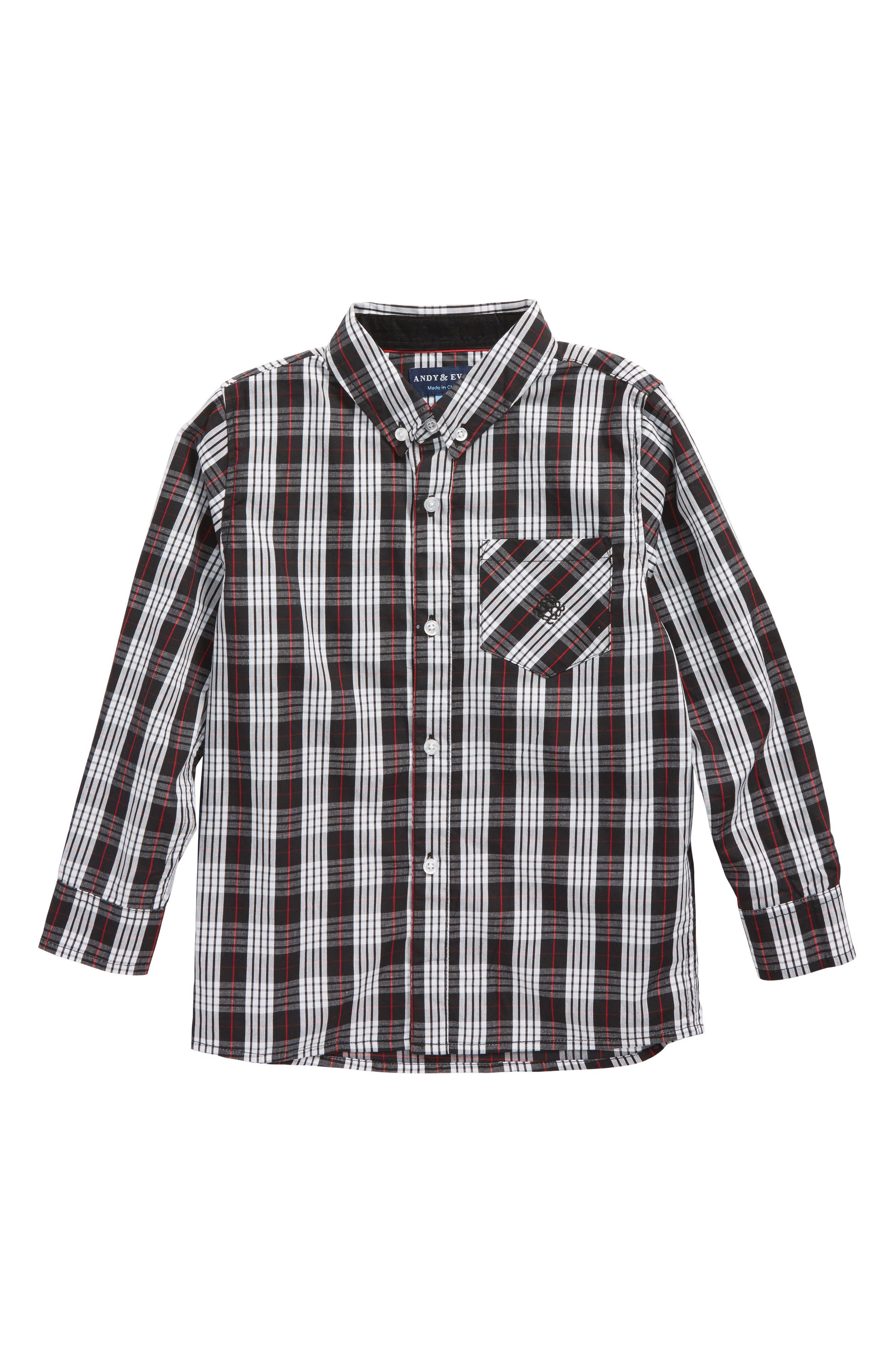 Andy & Evan Plaid Woven Shirt (Toddler Boys & Little Boys)