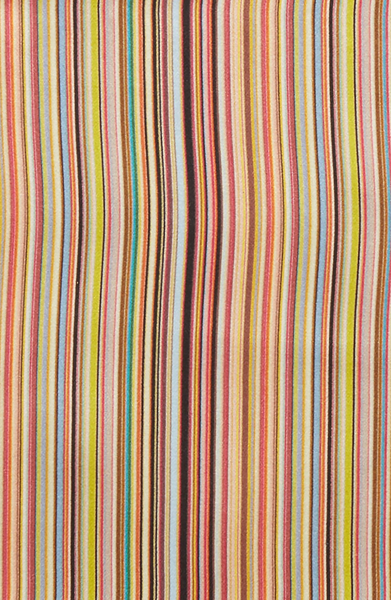 Multistripe Silk Pocket Square,                             Alternate thumbnail 3, color,                             Pink Multi