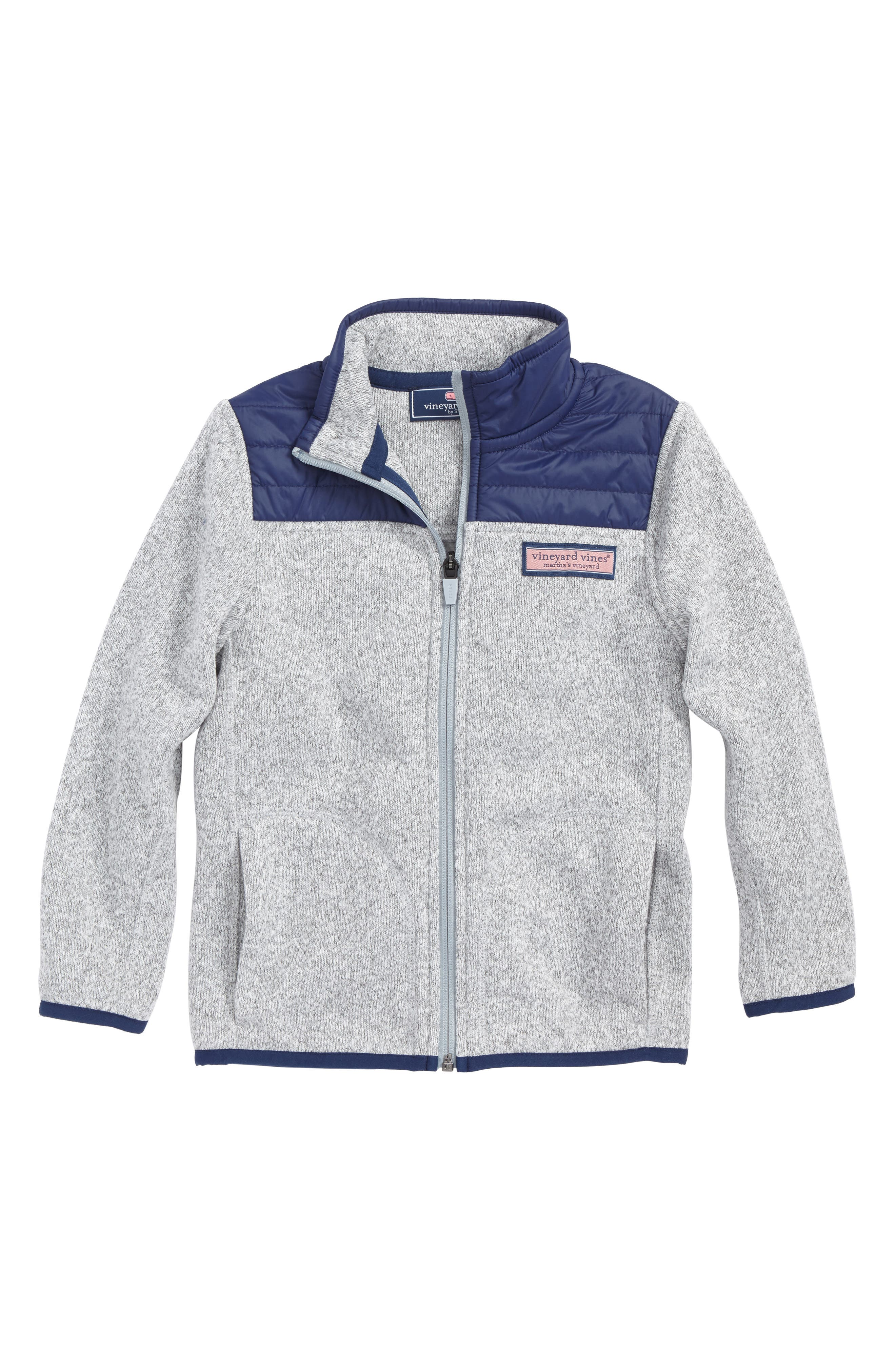 Full Zip Fleece Jacket,                             Main thumbnail 1, color,                             Gray Heather