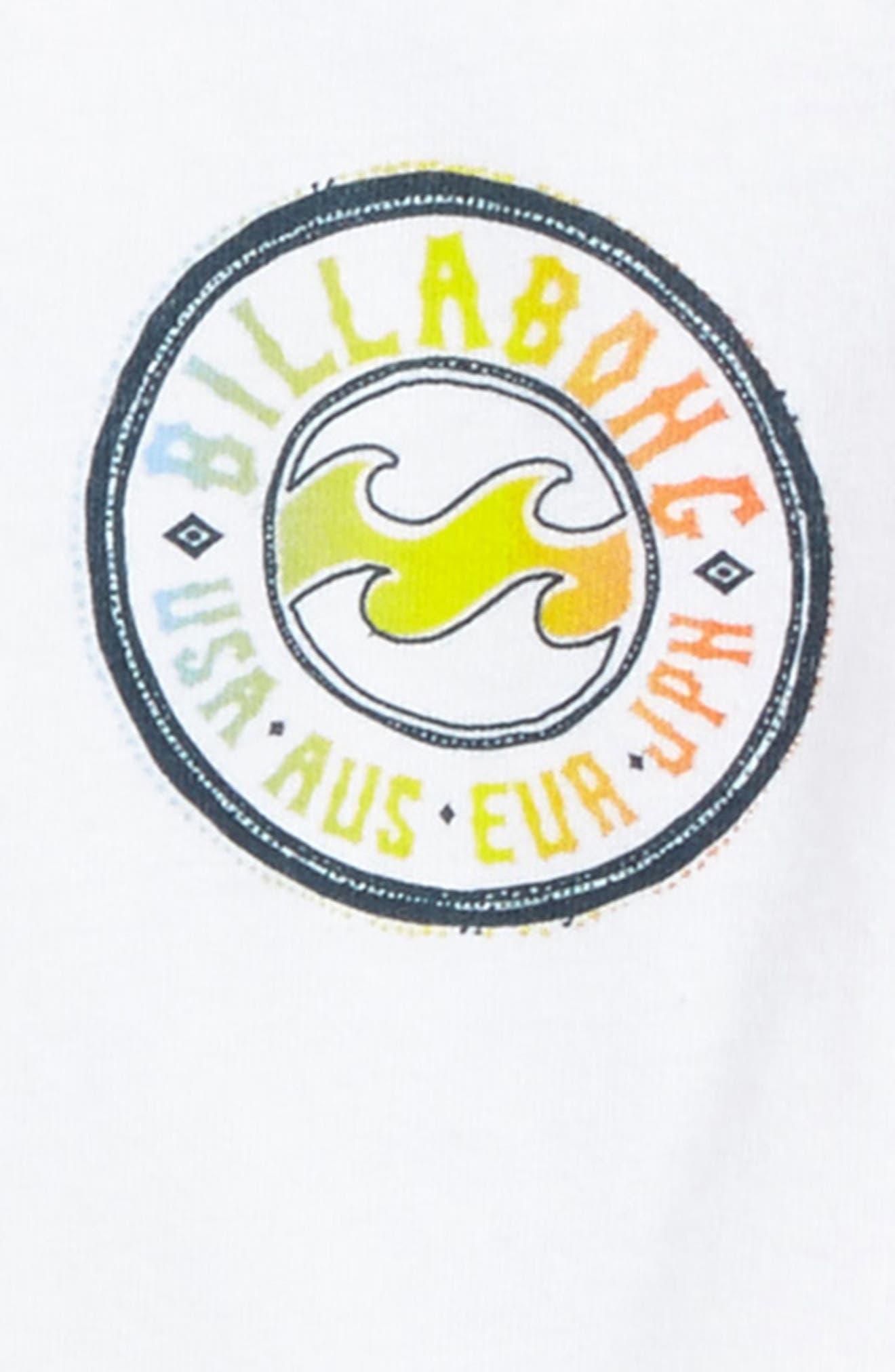 Flip Wave Long Sleeve Graphic T-Shirt,                             Alternate thumbnail 3, color,                             White