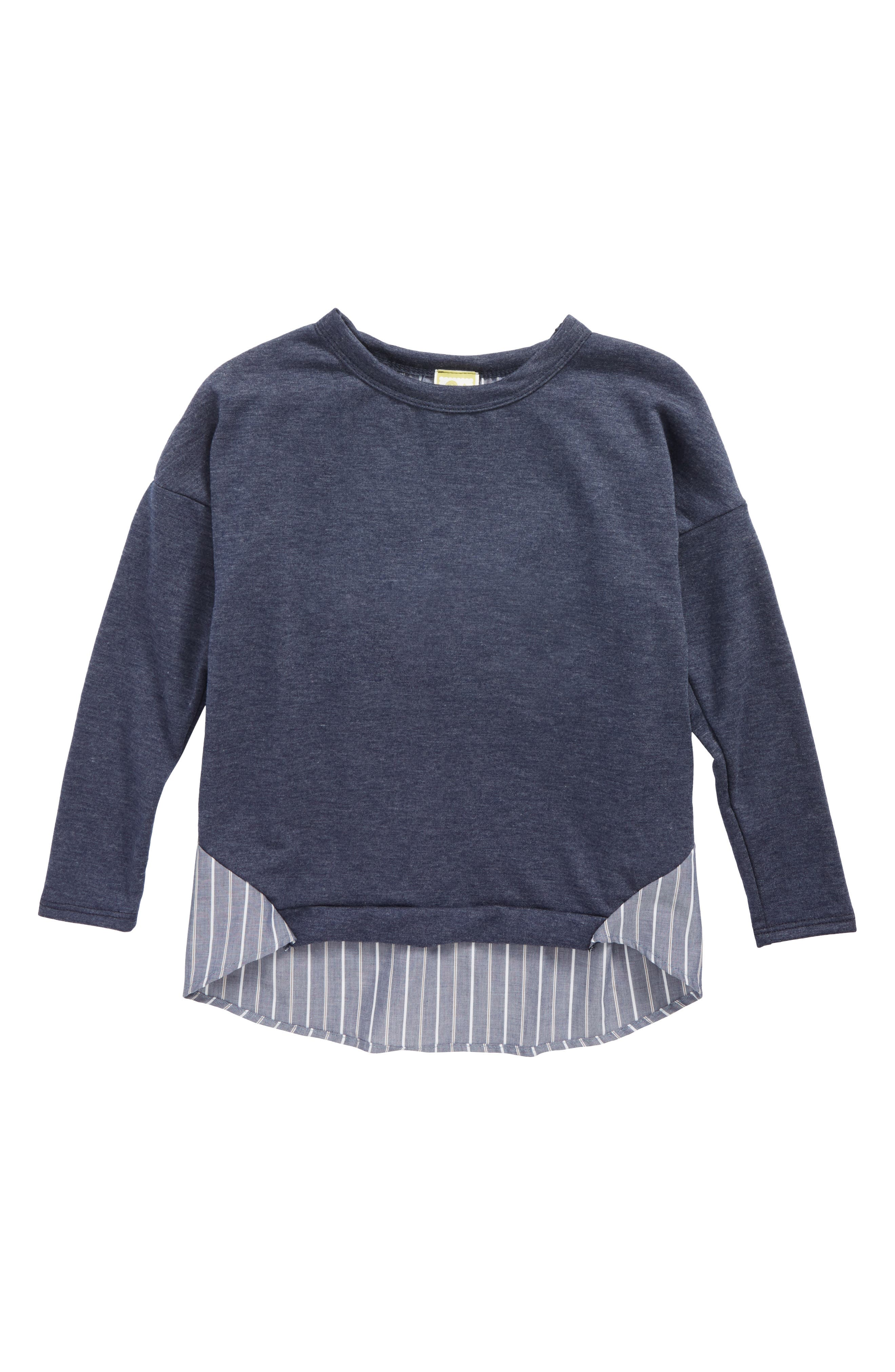 Kiddo Mixed Media Sweater (Big Girls)