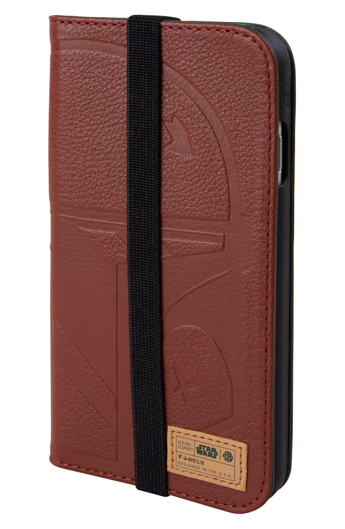 R2-D2 iPhone 6/6s/7/8 Wallet Case,                         Main,                         color, Burgundy